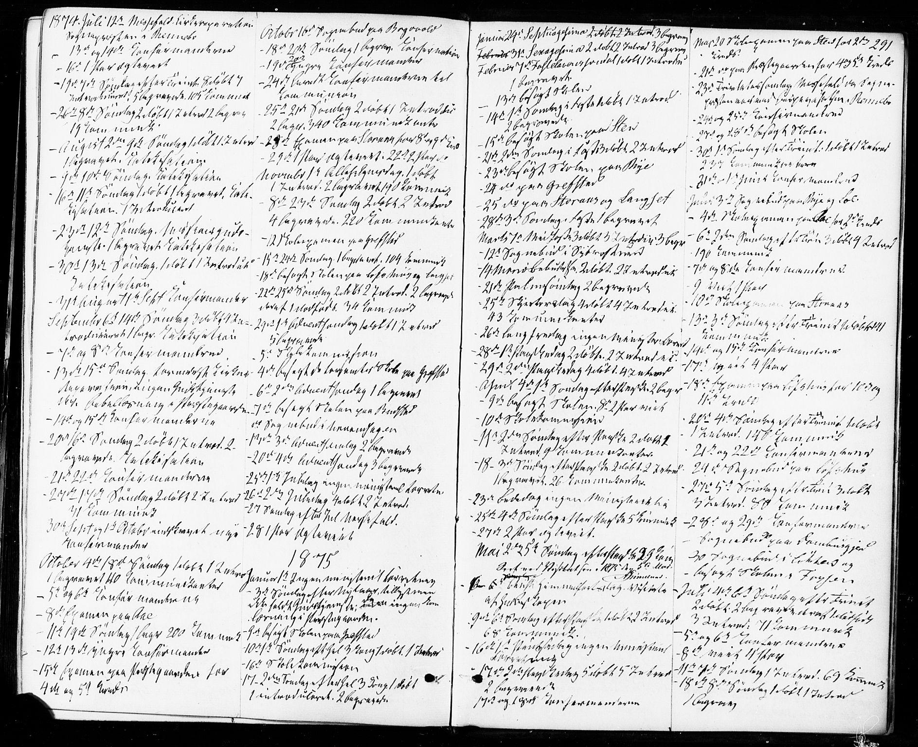 SAT, Ministerialprotokoller, klokkerbøker og fødselsregistre - Sør-Trøndelag, 672/L0856: Ministerialbok nr. 672A08, 1861-1881, s. 291