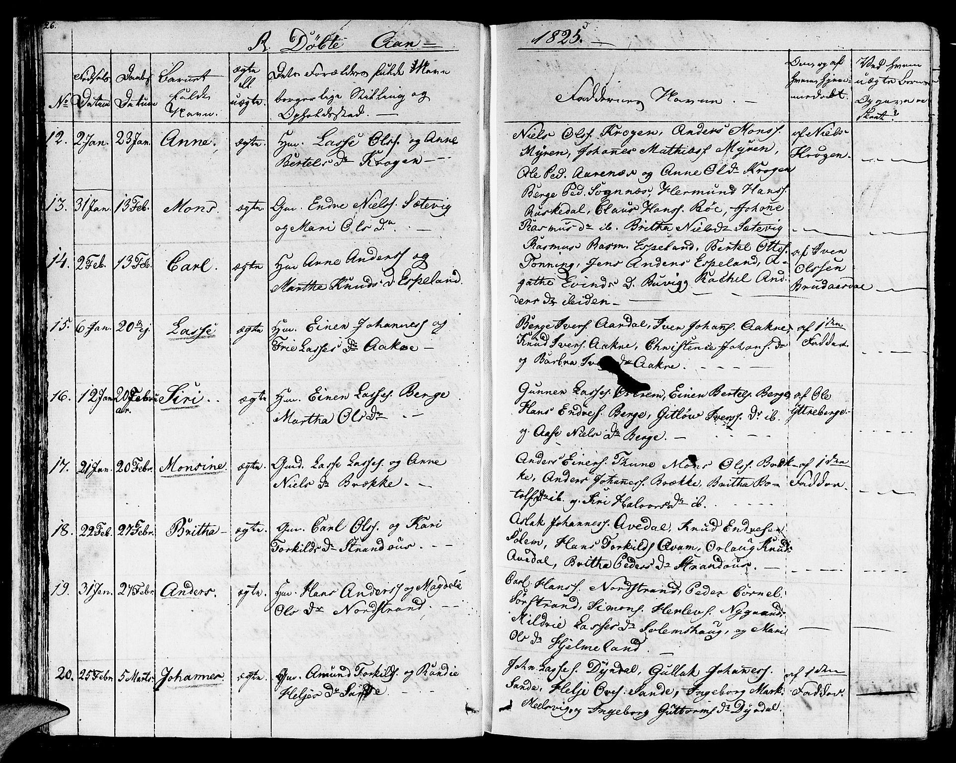 SAB, Lavik Sokneprestembete, Ministerialbok nr. A 2I, 1821-1842, s. 26