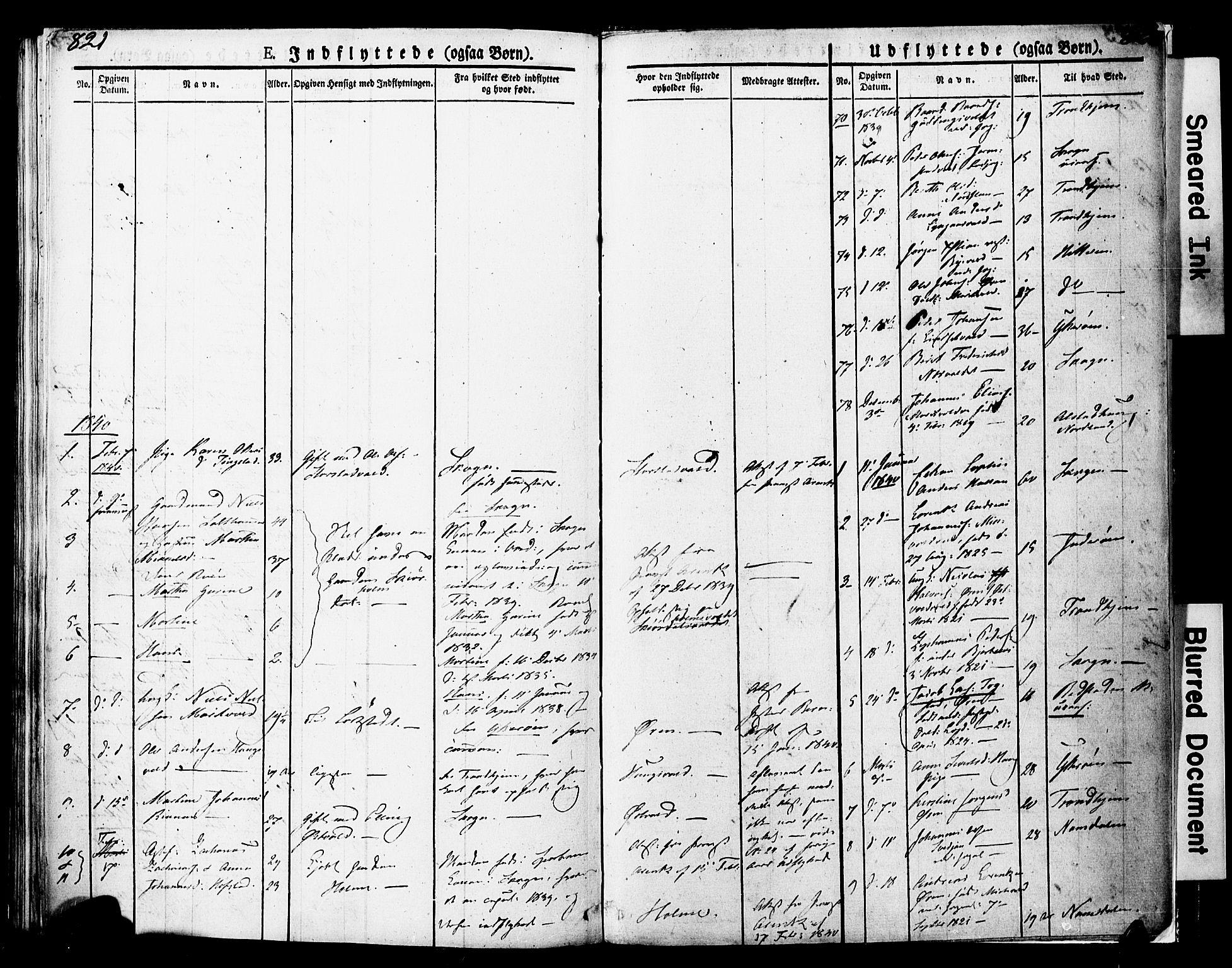 SAT, Ministerialprotokoller, klokkerbøker og fødselsregistre - Nord-Trøndelag, 723/L0243: Ministerialbok nr. 723A12, 1822-1851, s. 821-822