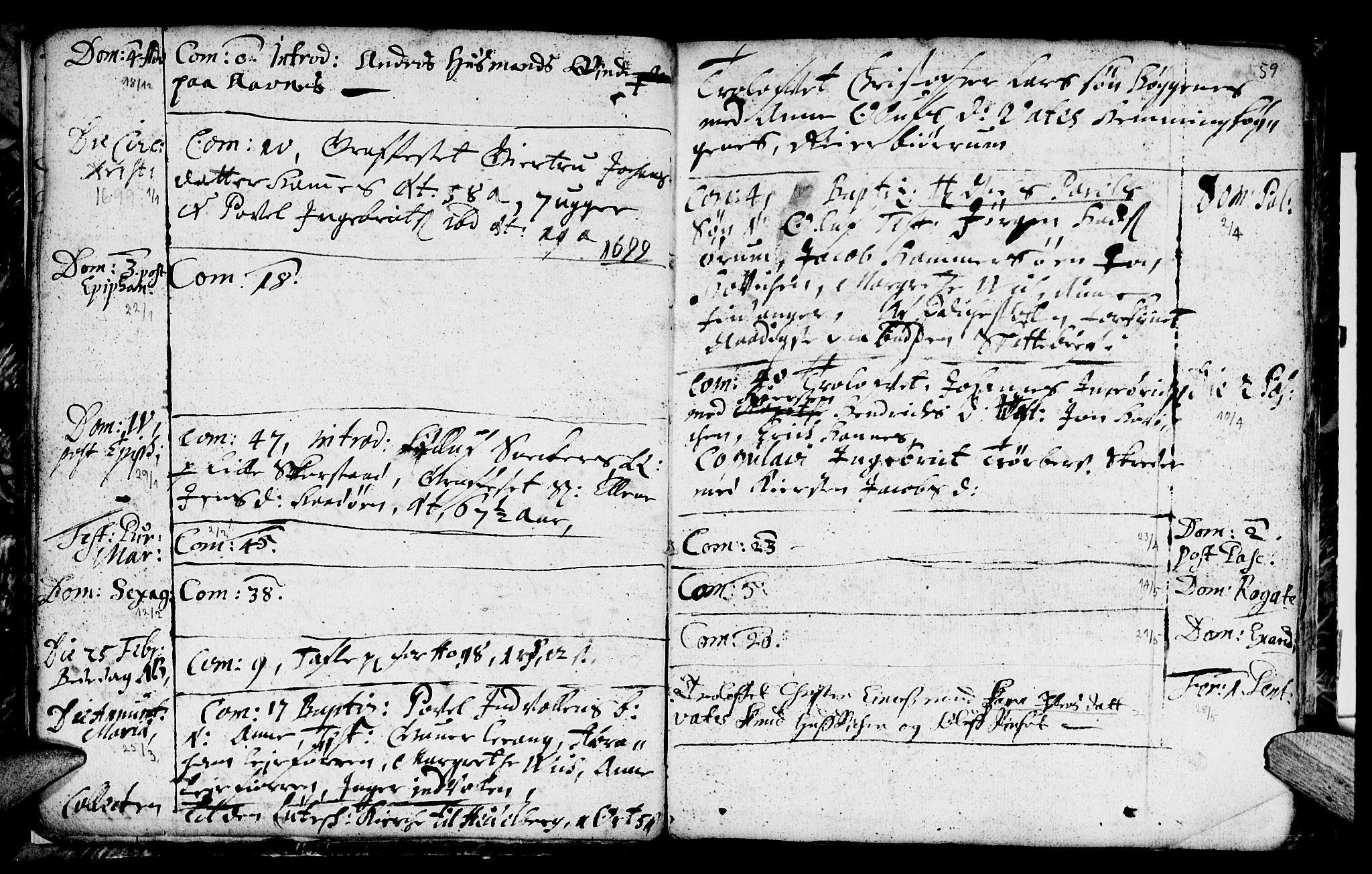 SAT, Ministerialprotokoller, klokkerbøker og fødselsregistre - Nord-Trøndelag, 774/L0627: Ministerialbok nr. 774A01, 1693-1738, s. 58-59