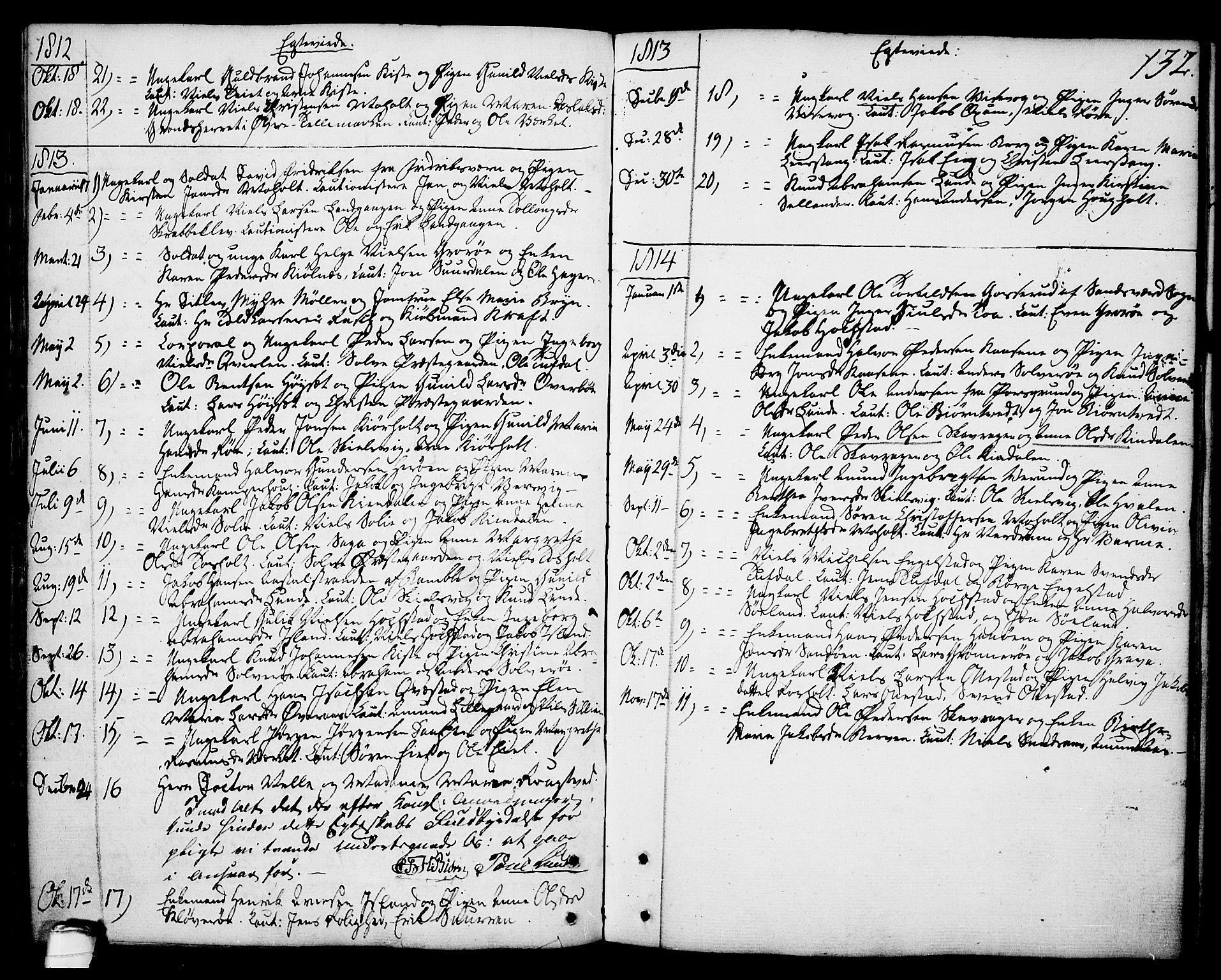 SAKO, Eidanger kirkebøker, F/Fa/L0006: Ministerialbok nr. 6, 1764-1814, s. 132