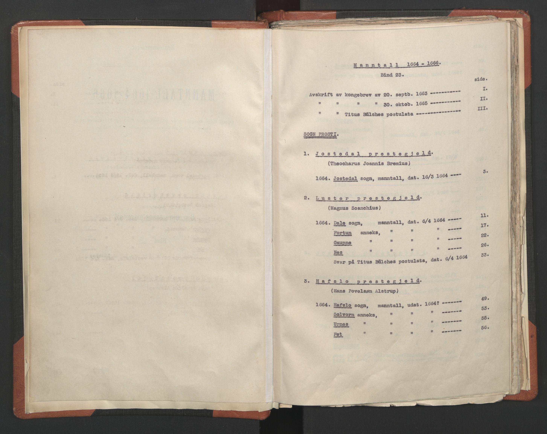 RA, Sogneprestenes manntall 1664-1666, nr. 23: Sogn prosti, 1664-1666, s. upaginert