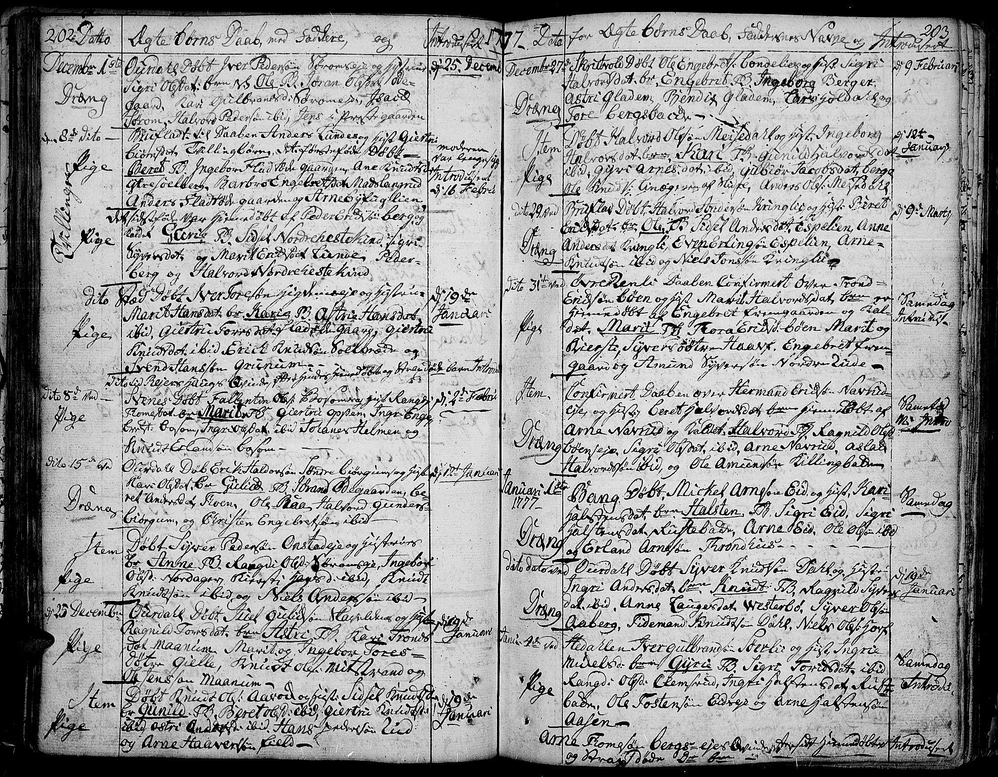 SAH, Aurdal prestekontor, Ministerialbok nr. 5, 1763-1781, s. 202-203