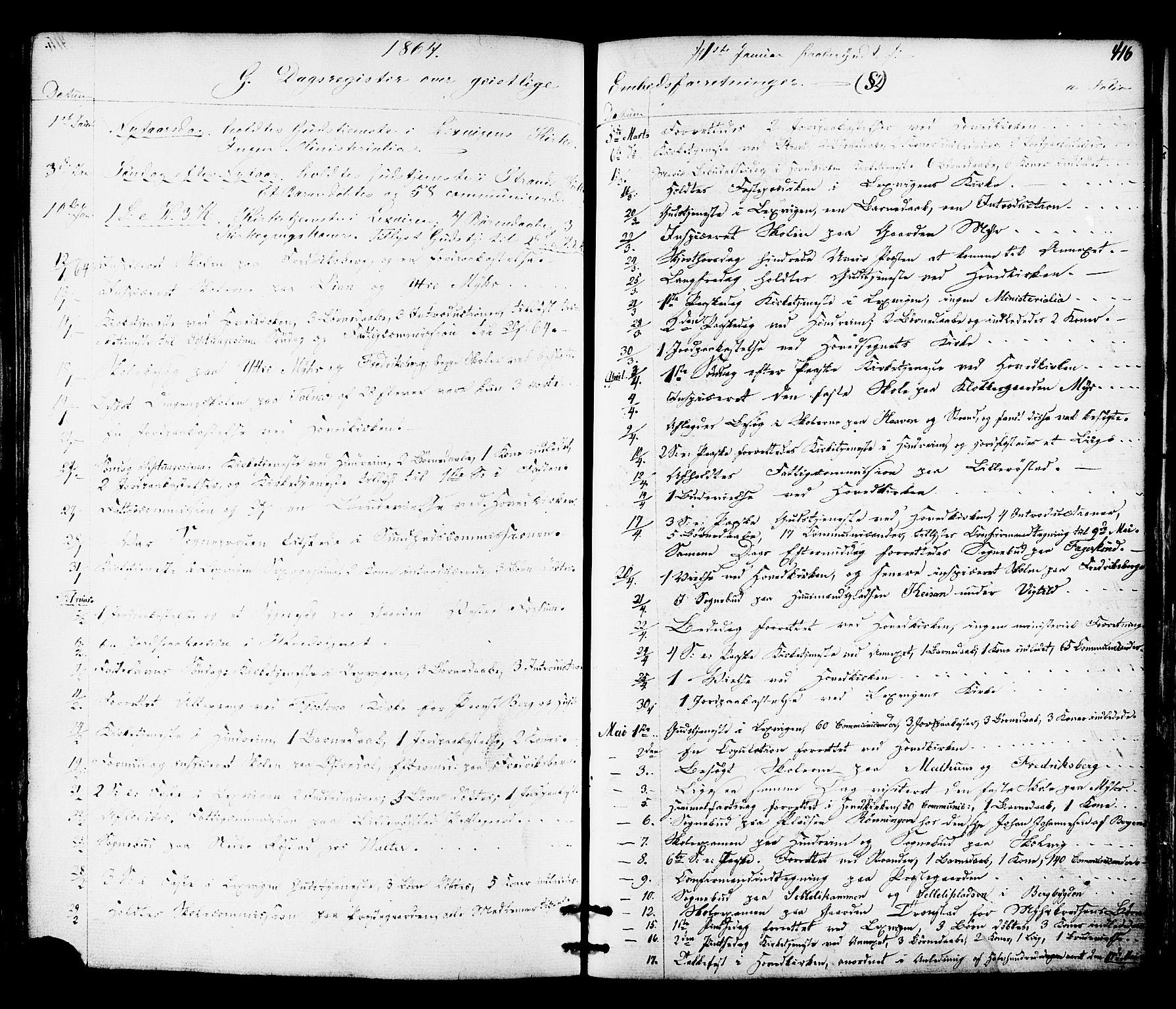 SAT, Ministerialprotokoller, klokkerbøker og fødselsregistre - Nord-Trøndelag, 701/L0009: Ministerialbok nr. 701A09 /1, 1864-1882, s. 416