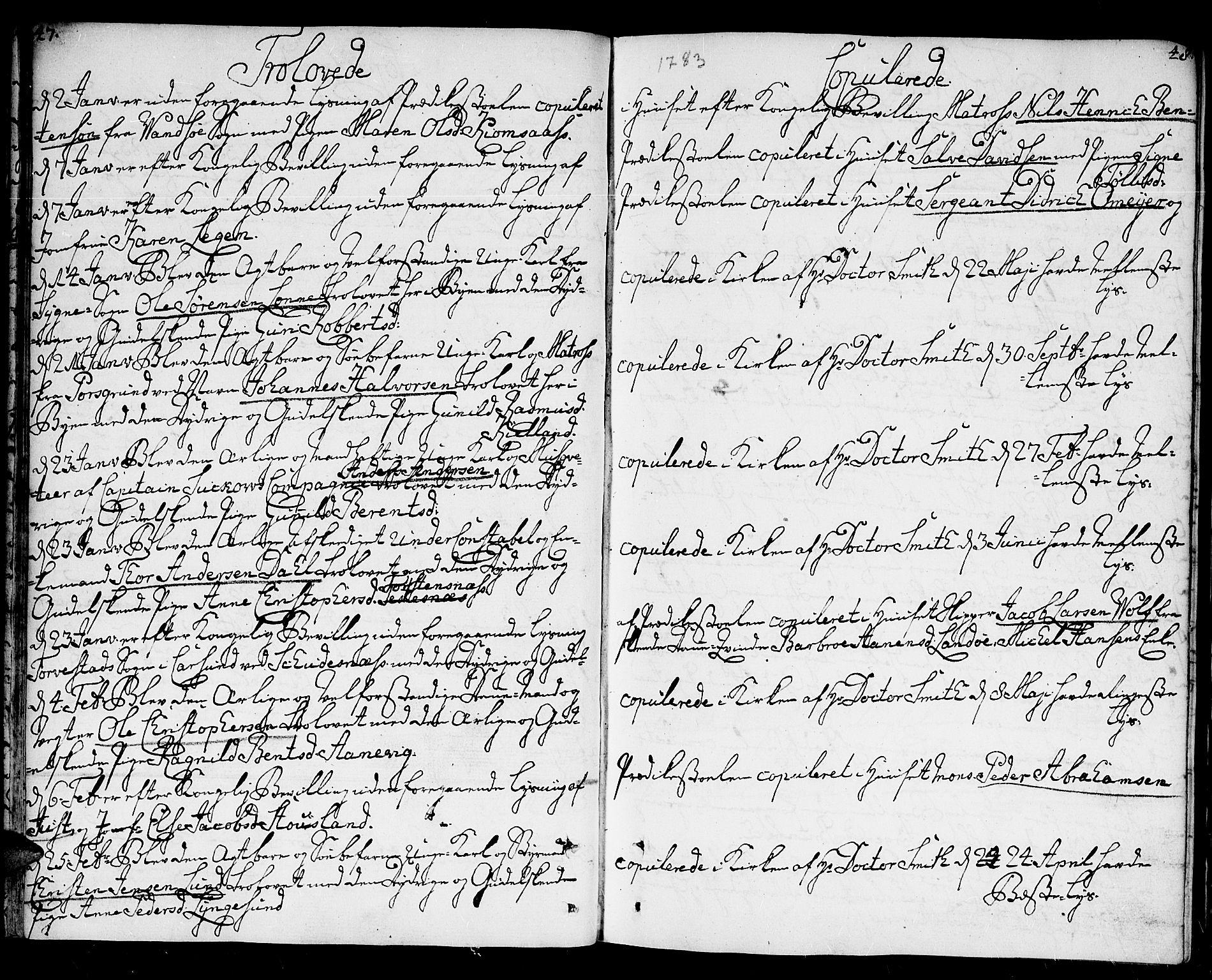 SAK, Kristiansand domprosti, F/Fa/L0005: Ministerialbok nr. A 5, 1776-1818, s. 47-48