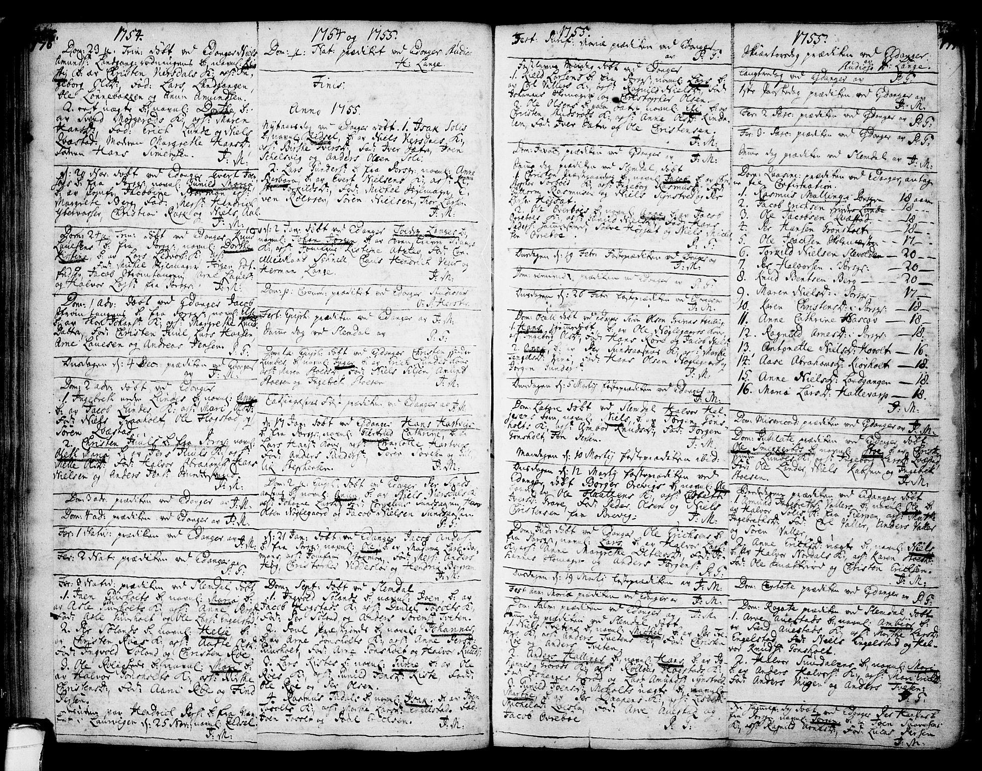 SAKO, Eidanger kirkebøker, F/Fa/L0004: Ministerialbok nr. 4, 1733-1759, s. 176-177
