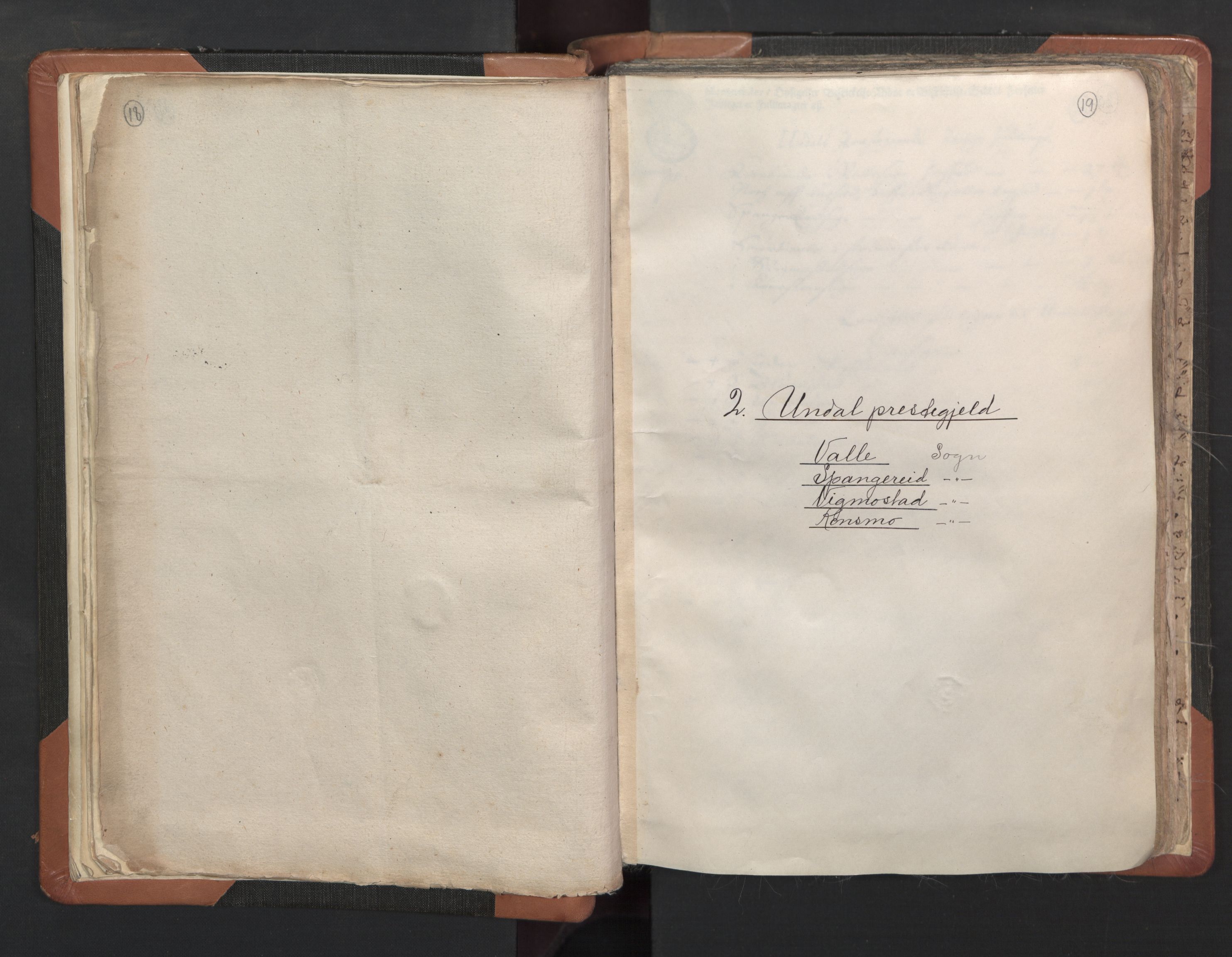 RA, Sogneprestenes manntall 1664-1666, nr. 16: Lista prosti, 1664-1666, s. 18-19