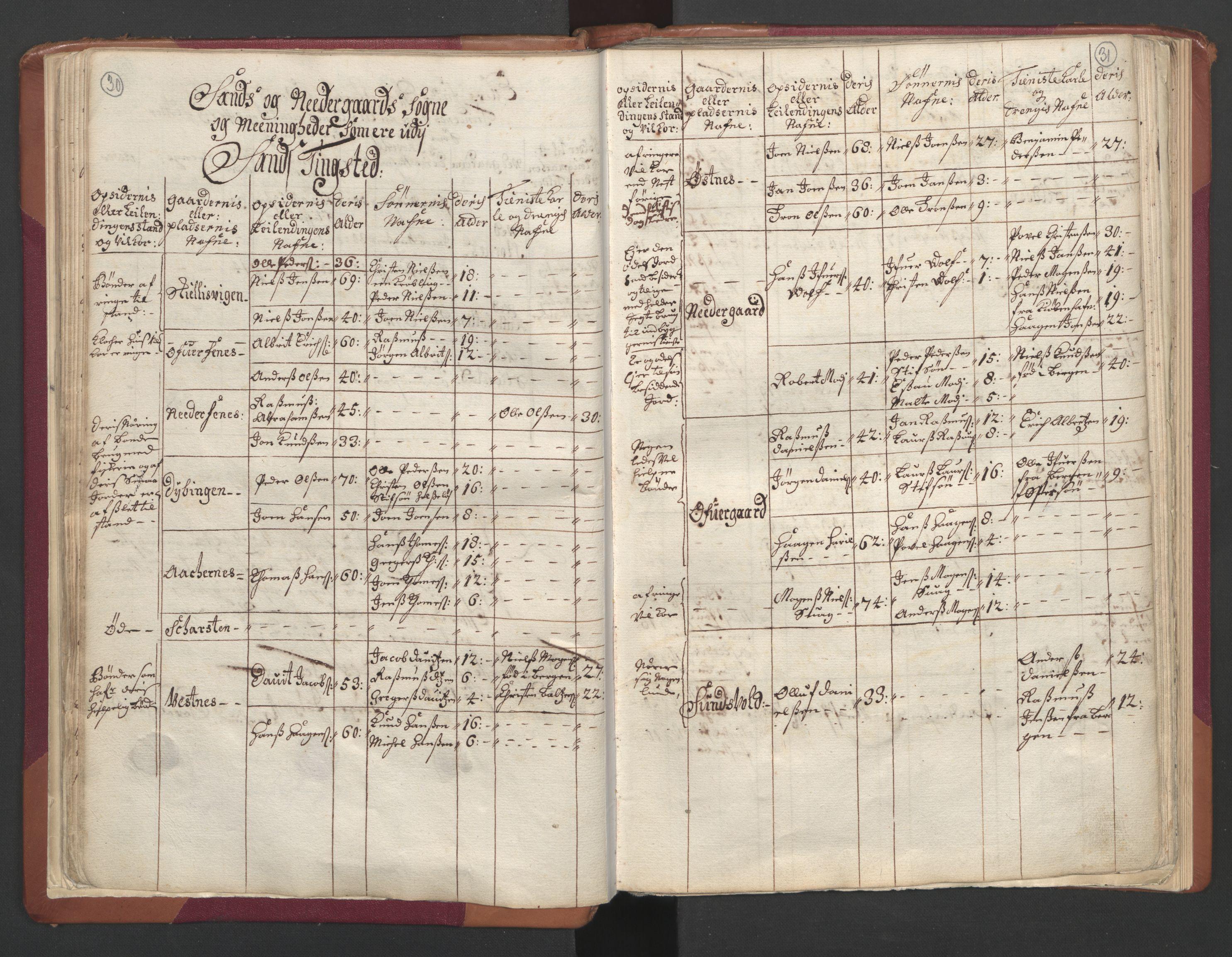RA, Manntallet 1701, nr. 19: Senja og Tromsø fogderi, 1701, s. 30-31