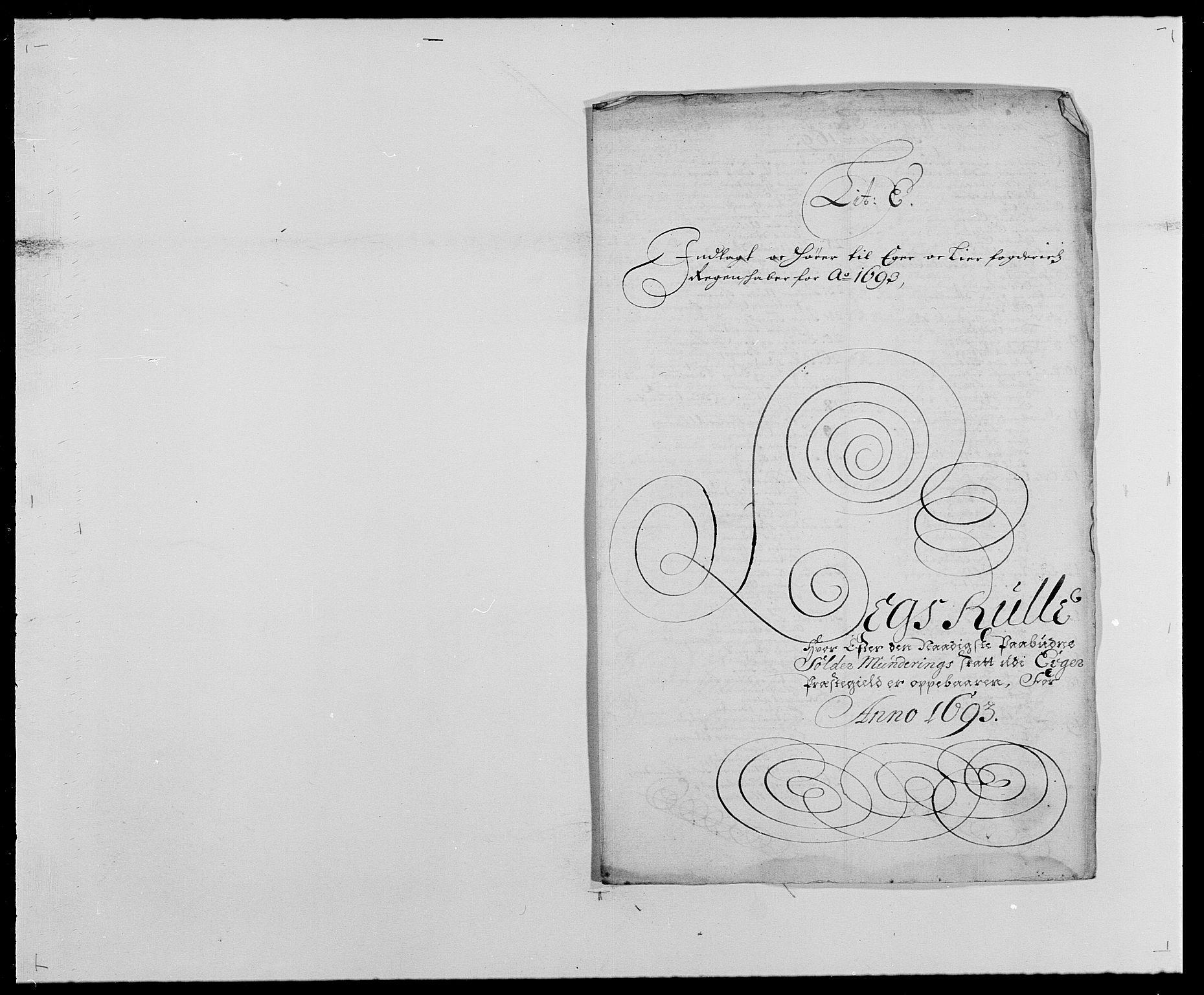 RA, Rentekammeret inntil 1814, Reviderte regnskaper, Fogderegnskap, R28/L1690: Fogderegnskap Eiker og Lier, 1692-1693, s. 181