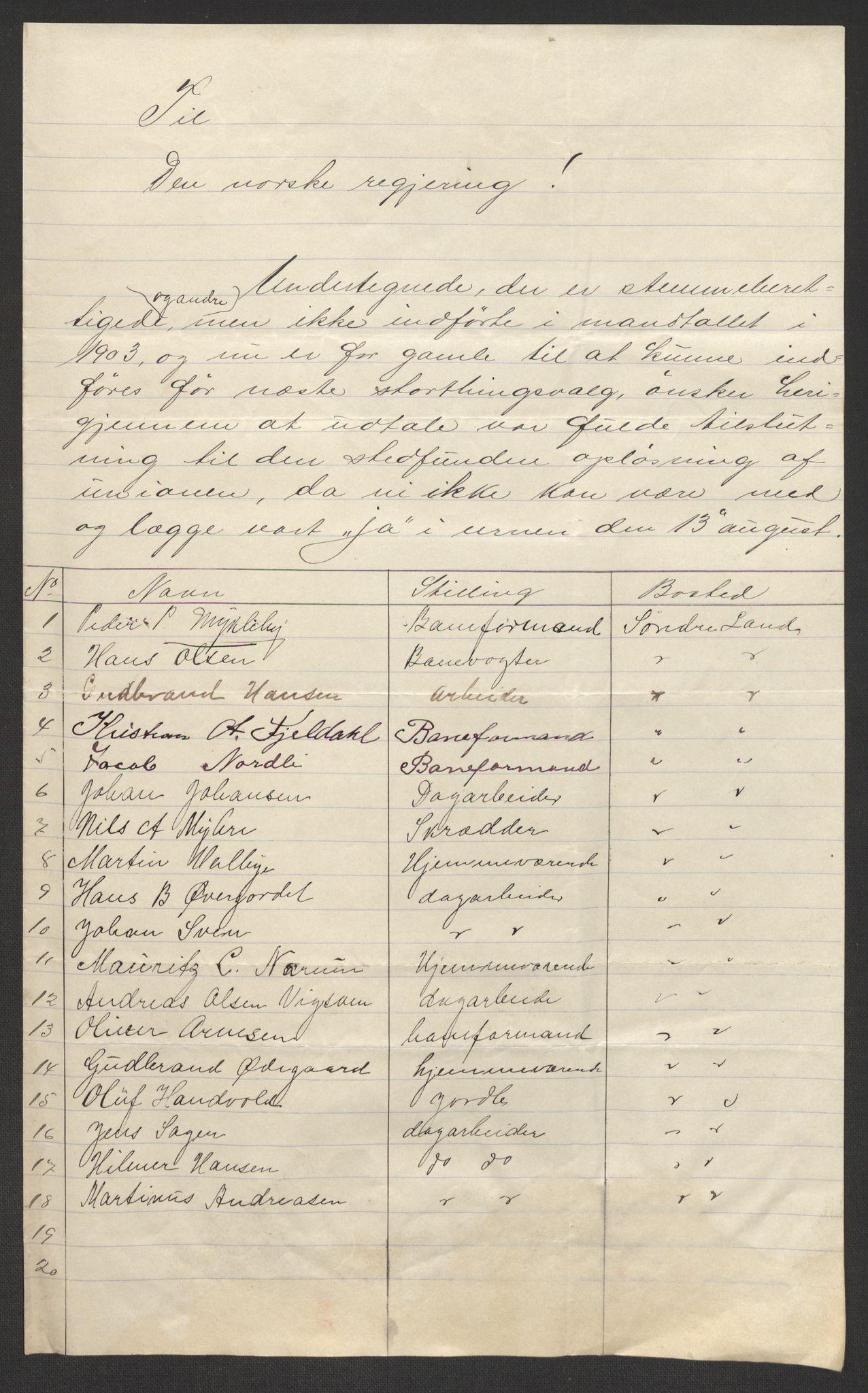 RA, Justisdepartementet, 2. sivilkontor C, F/L0125B: Folkeavstemmingen august 1905, 1905, s. 8
