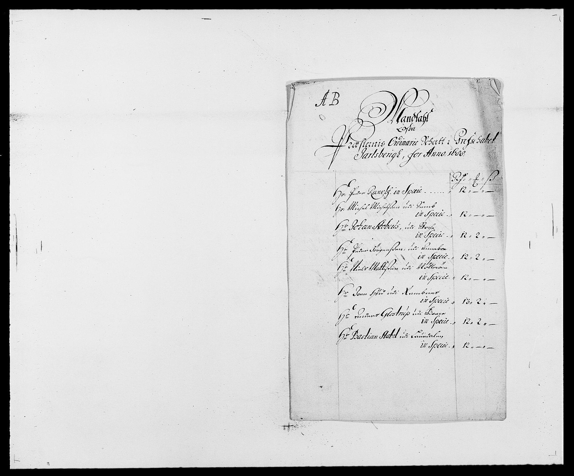 RA, Rentekammeret inntil 1814, Reviderte regnskaper, Fogderegnskap, R32/L1859: Fogderegnskap Jarlsberg grevskap, 1686-1690, s. 225