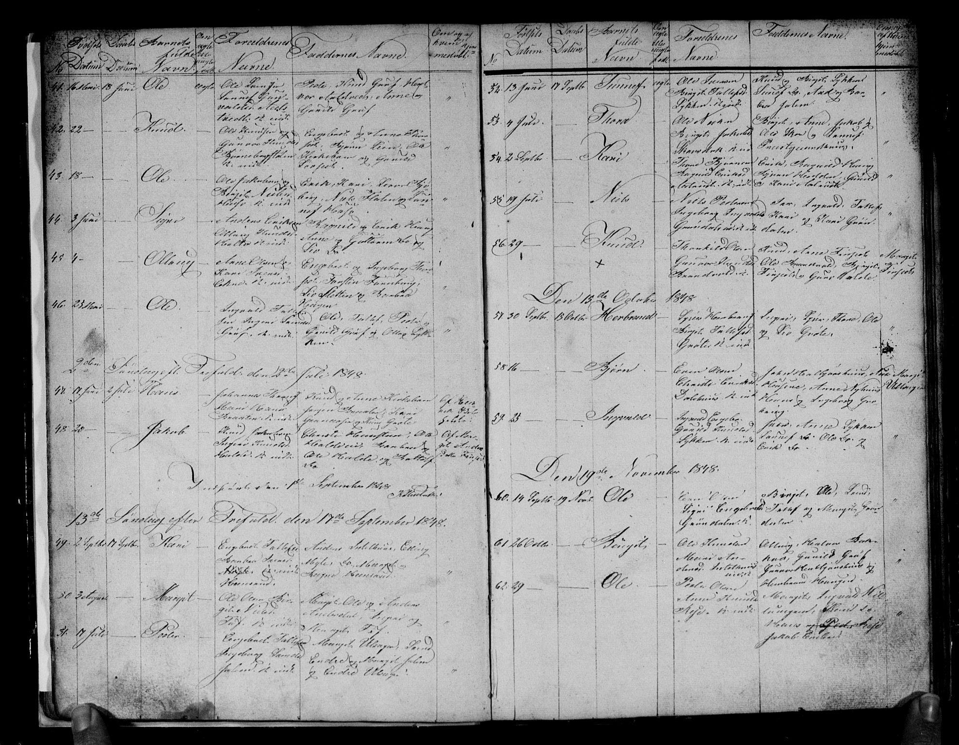 SAKO, Gol kirkebøker, G/Gb/L0003: Klokkerbok nr. II 3, 1844-1858, s. 24-25