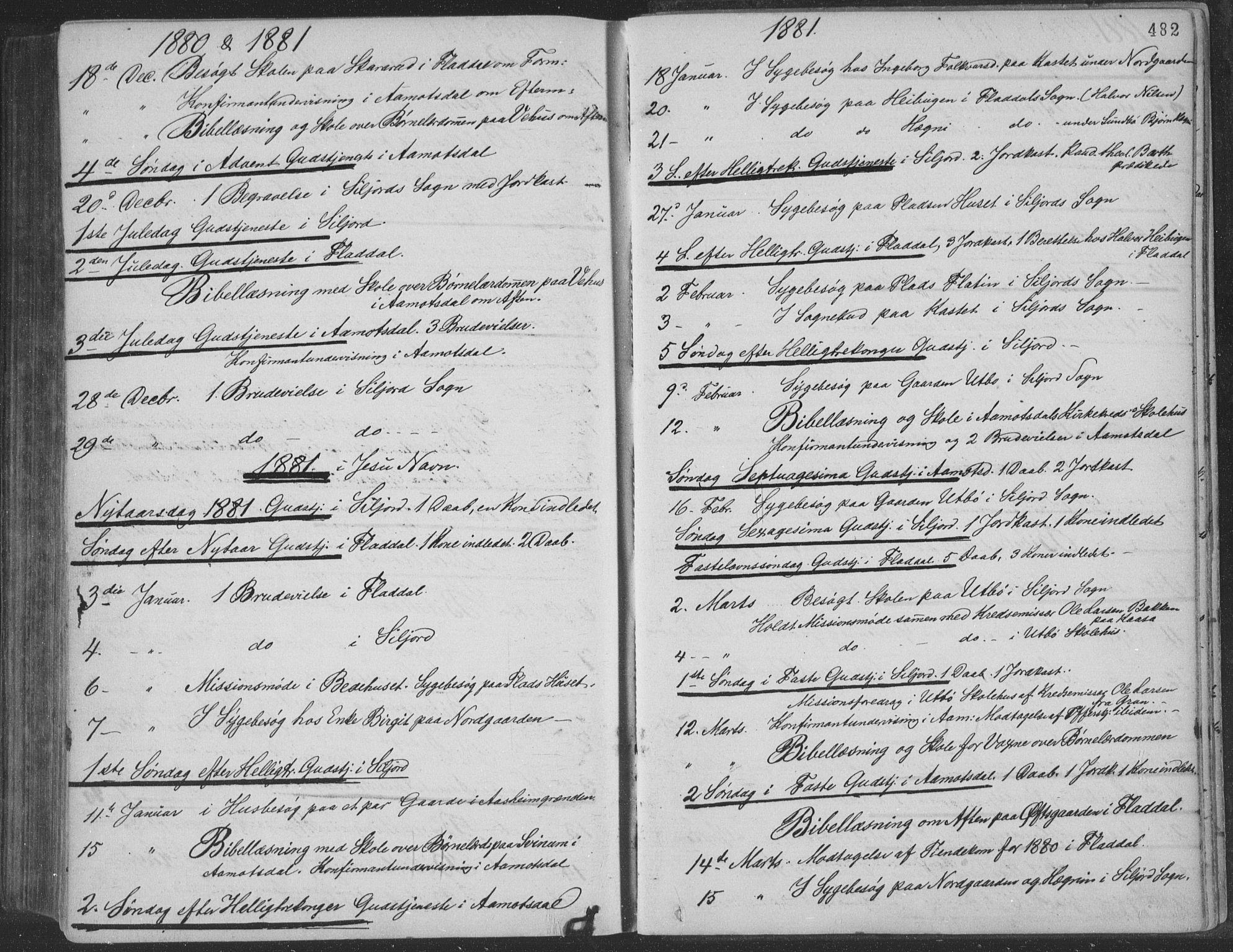 SAKO, Seljord kirkebøker, F/Fa/L0014: Ministerialbok nr. I 14, 1877-1886, s. 482