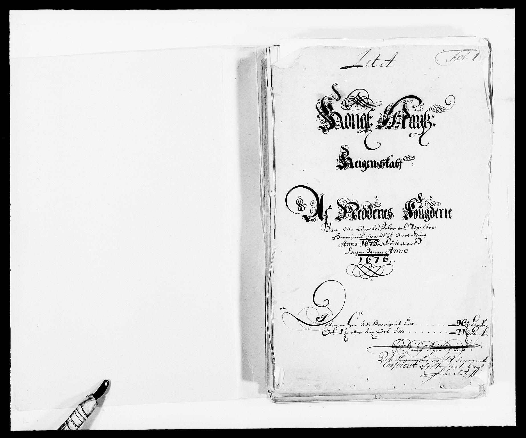 RA, Rentekammeret inntil 1814, Reviderte regnskaper, Fogderegnskap, R39/L2301: Fogderegnskap Nedenes, 1675-1676, s. 2