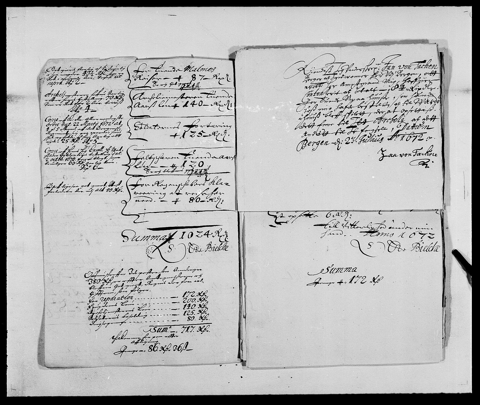 RA, Rentekammeret inntil 1814, Reviderte regnskaper, Fogderegnskap, R69/L4849: Fogderegnskap Finnmark/Vardøhus, 1661-1679, s. 258