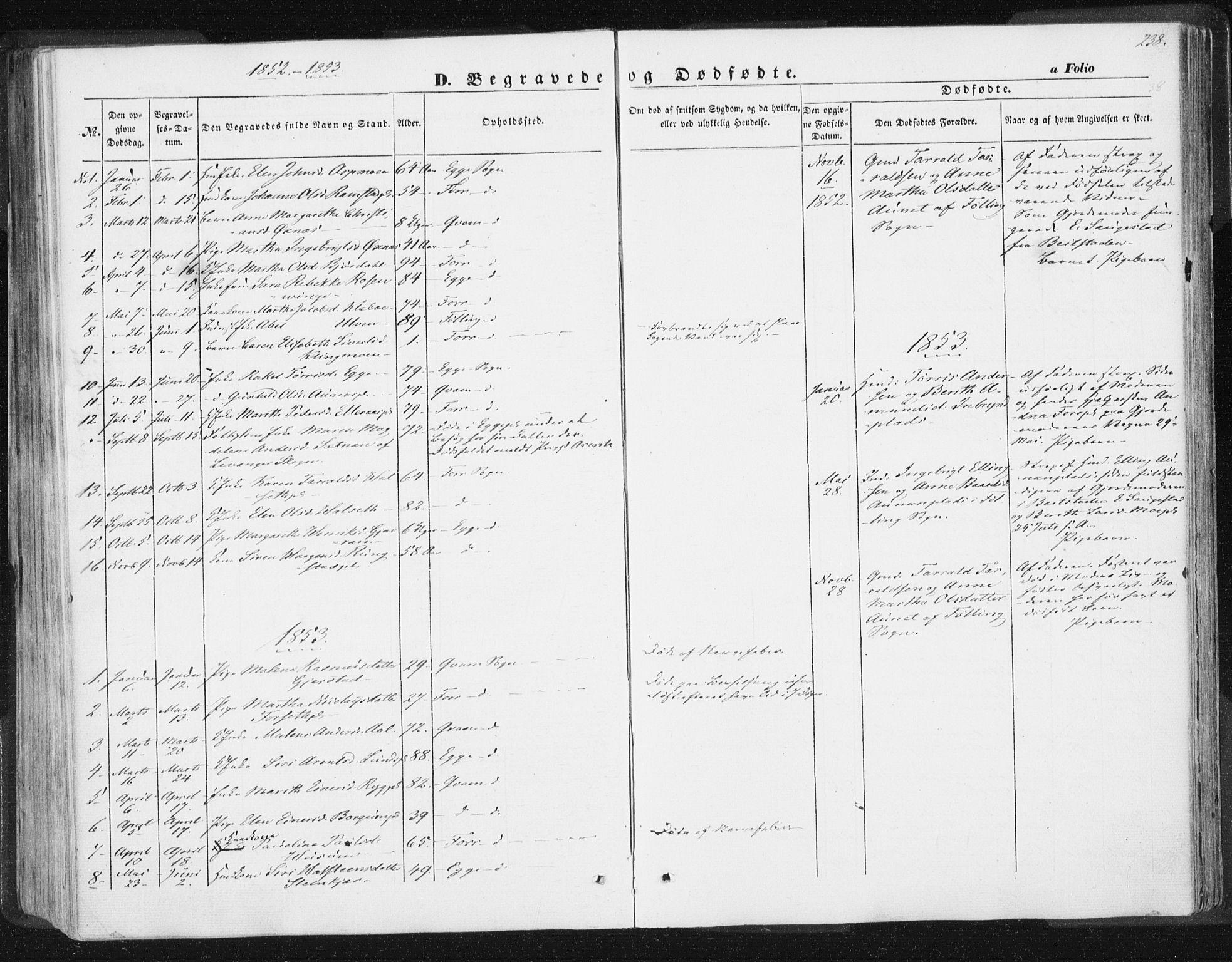 SAT, Ministerialprotokoller, klokkerbøker og fødselsregistre - Nord-Trøndelag, 746/L0446: Ministerialbok nr. 746A05, 1846-1859, s. 238
