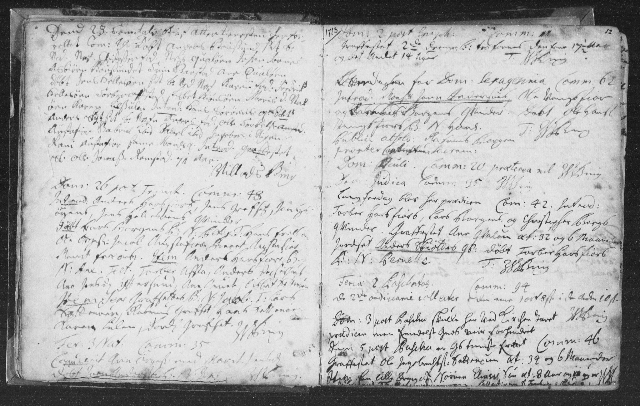 SAT, Ministerialprotokoller, klokkerbøker og fødselsregistre - Nord-Trøndelag, 786/L0685: Ministerialbok nr. 786A01, 1710-1798, s. 12