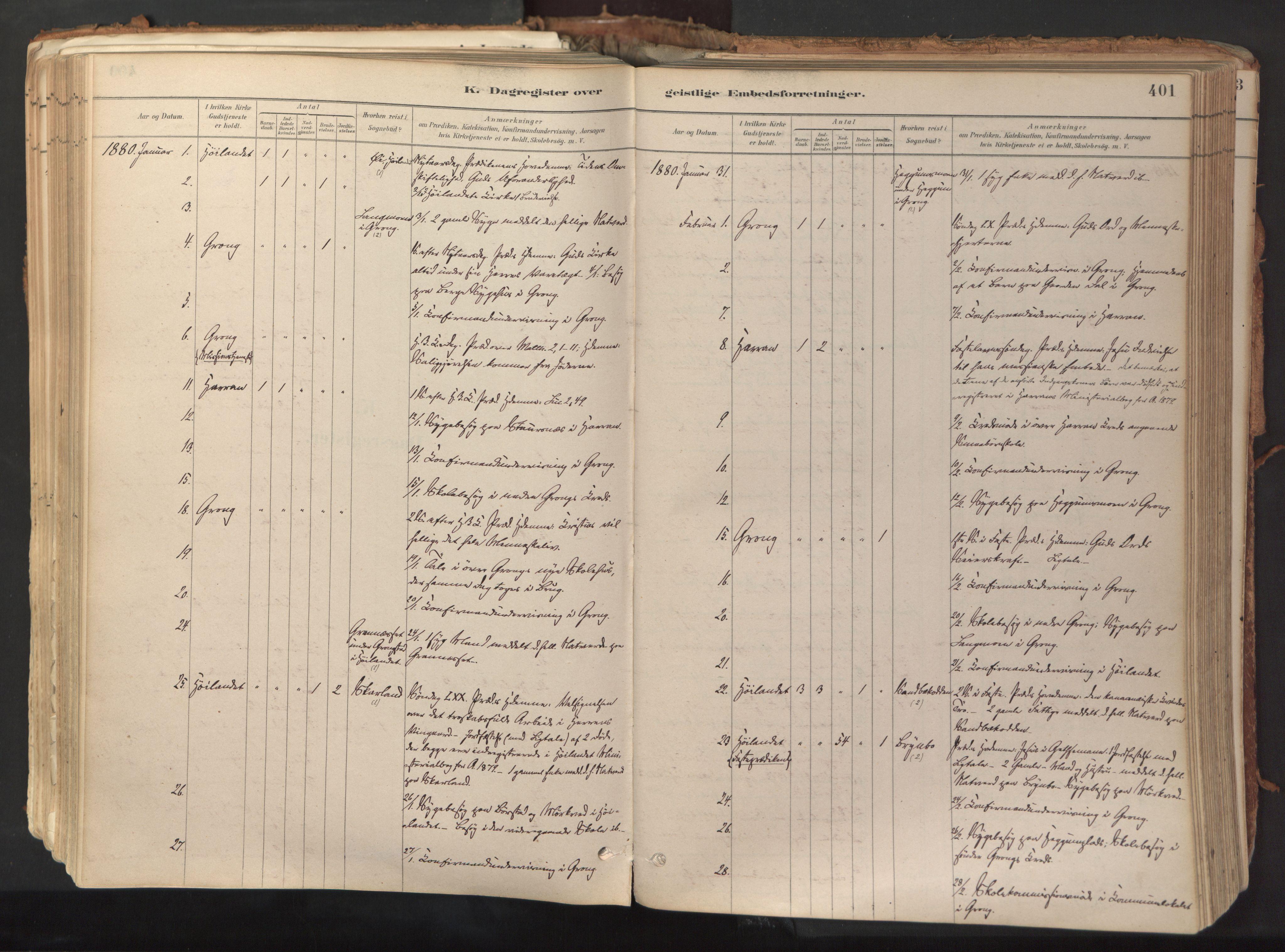 SAT, Ministerialprotokoller, klokkerbøker og fødselsregistre - Nord-Trøndelag, 758/L0519: Ministerialbok nr. 758A04, 1880-1926, s. 401