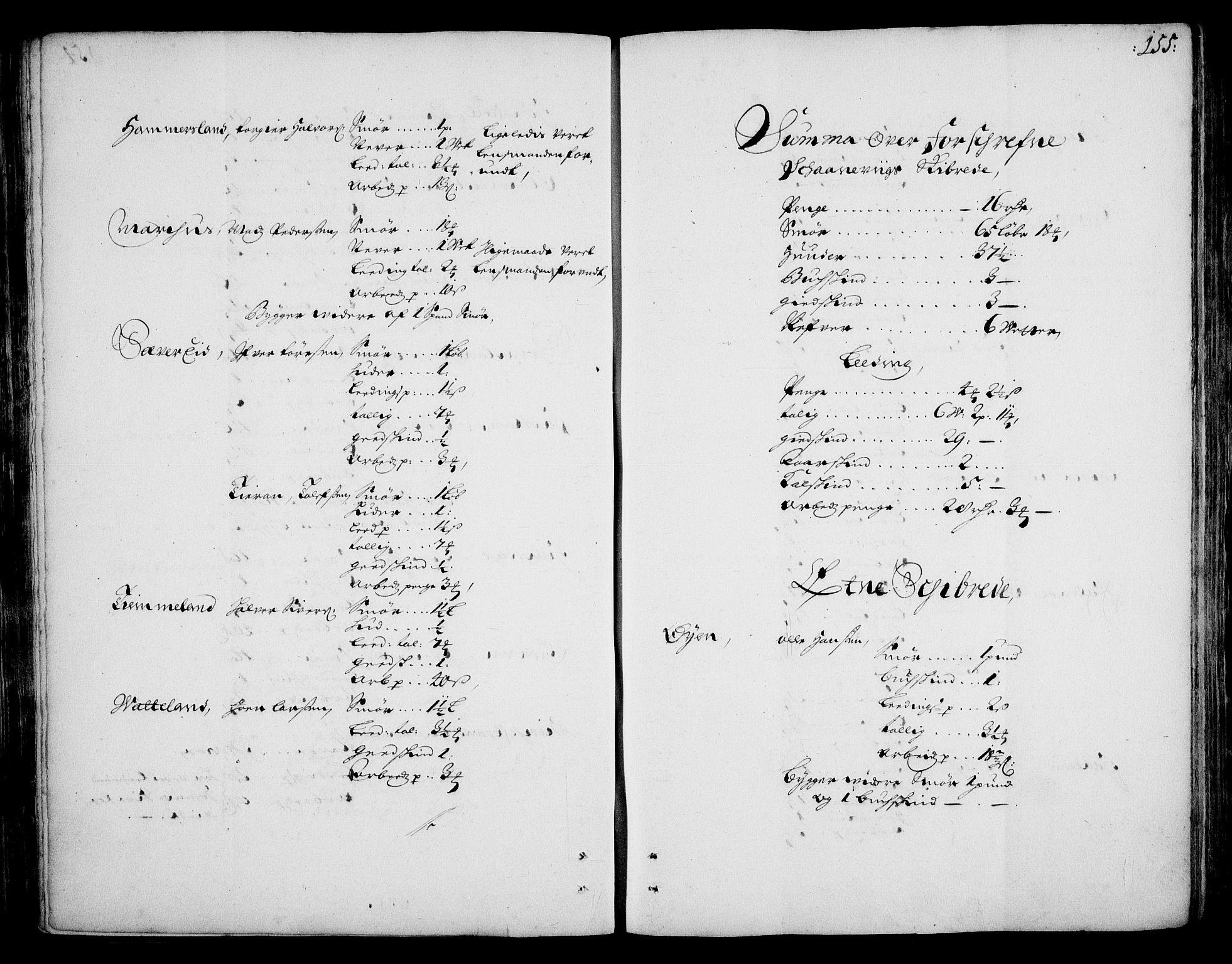 RA, Rentekammeret inntil 1814, Realistisk ordnet avdeling, On/L0002: [Jj 3]: Besiktigelsesforretninger over Halsnøy klosters gods, 1659-1703, s. 154b-155a