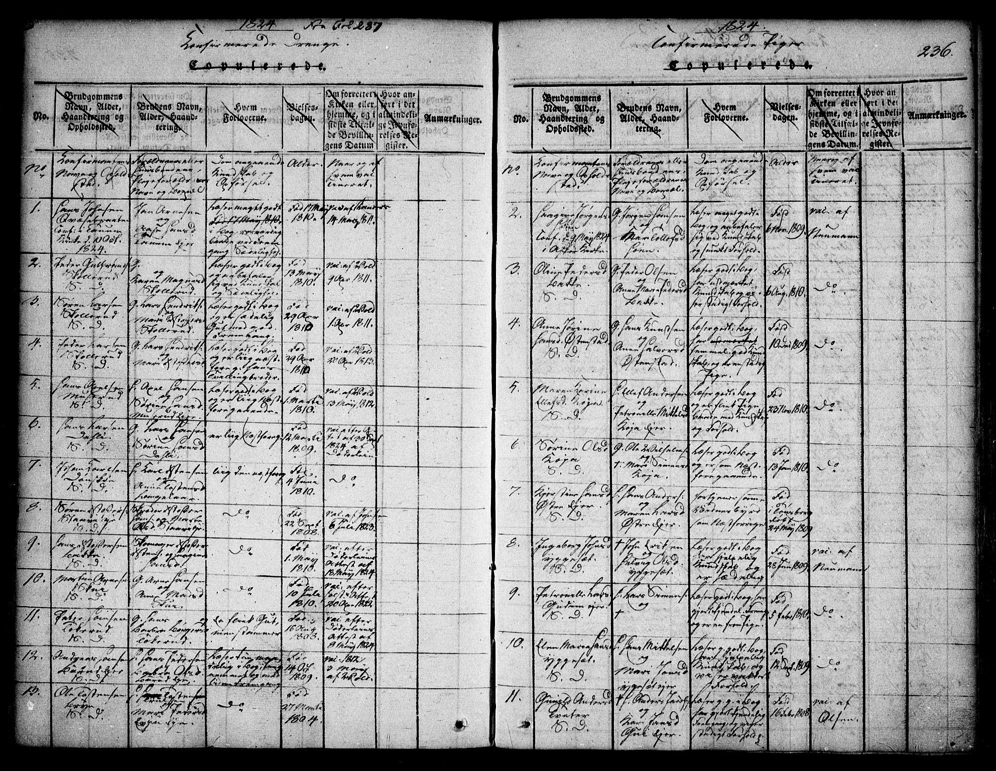 SAO, Asker prestekontor Kirkebøker, F/Fa/L0006: Ministerialbok nr. I 6, 1814-1824, s. 236