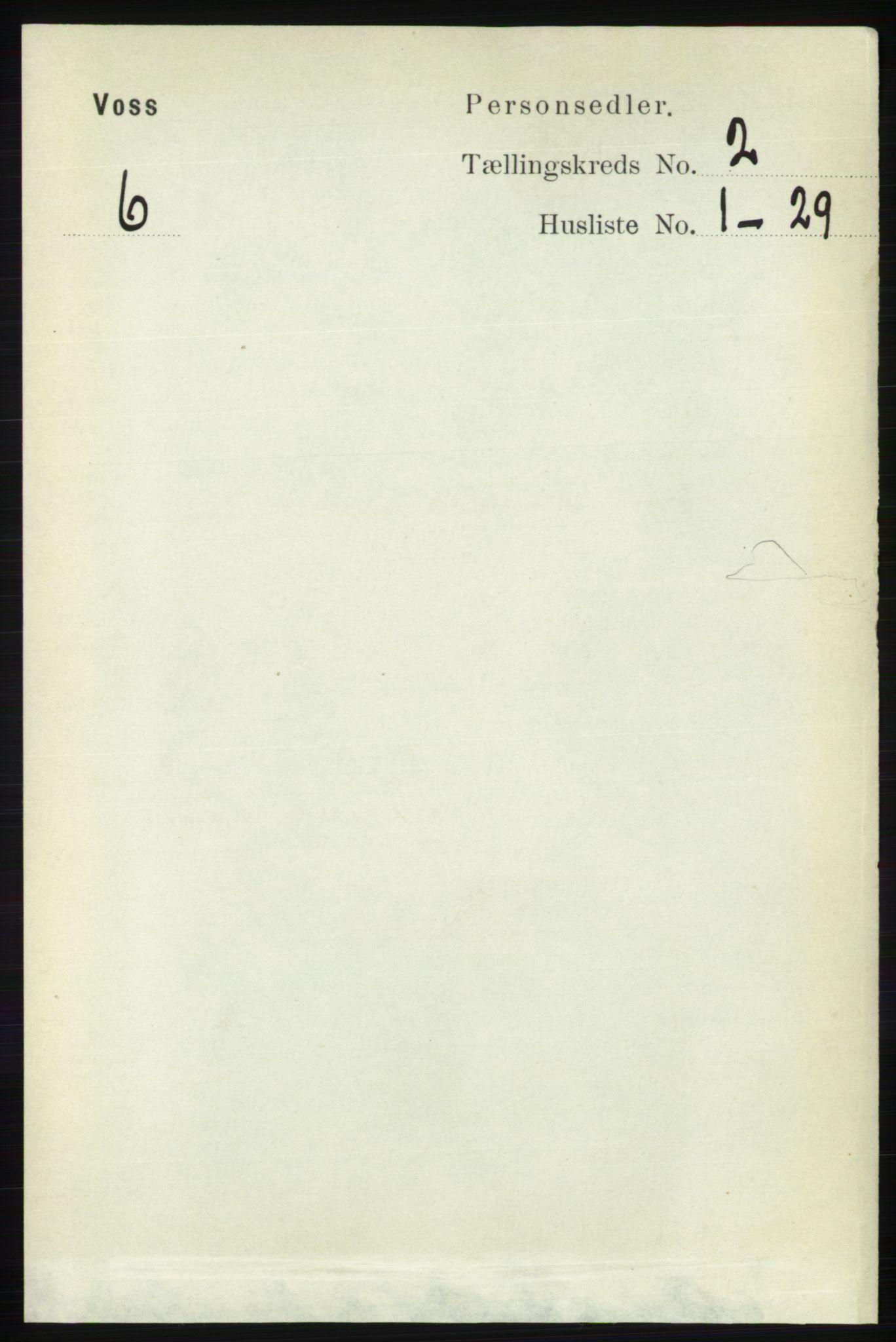 RA, Folketelling 1891 for 1235 Voss herred, 1891, s. 624