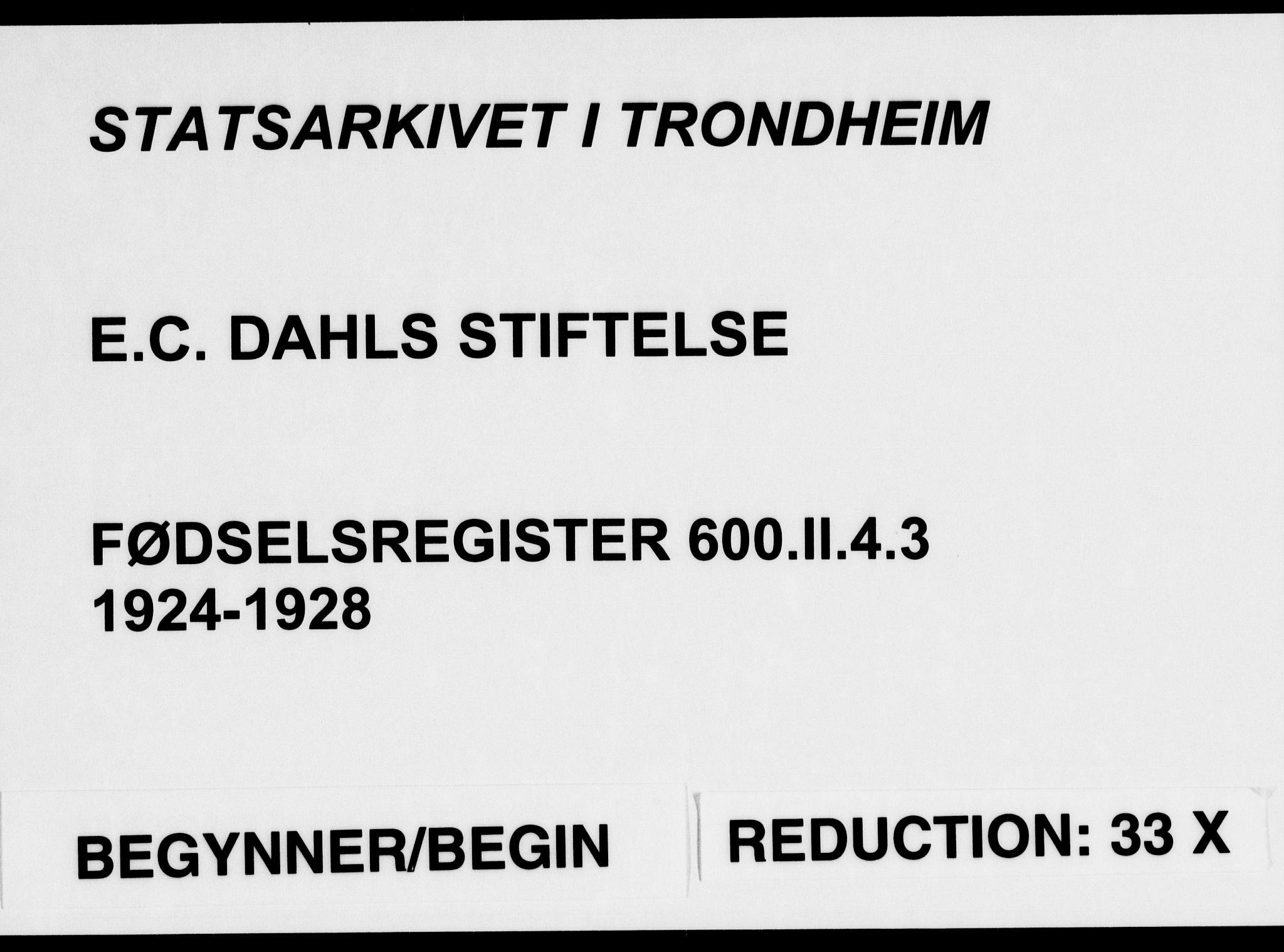 SAT, Ministerialprotokoller, klokkerbøker og fødselsregistre - Sør-Trøndelag, 600/L0004: Fødselsregister nr. 600.II.4.3, 1924-1928