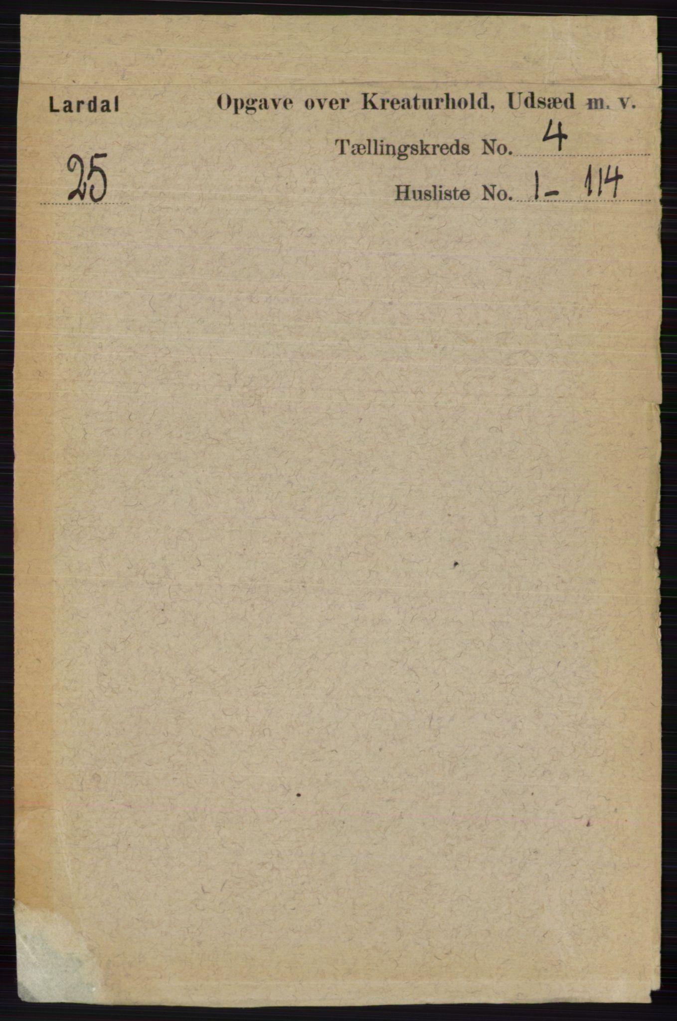 RA, Folketelling 1891 for 0728 Lardal herred, 1891, s. 3799