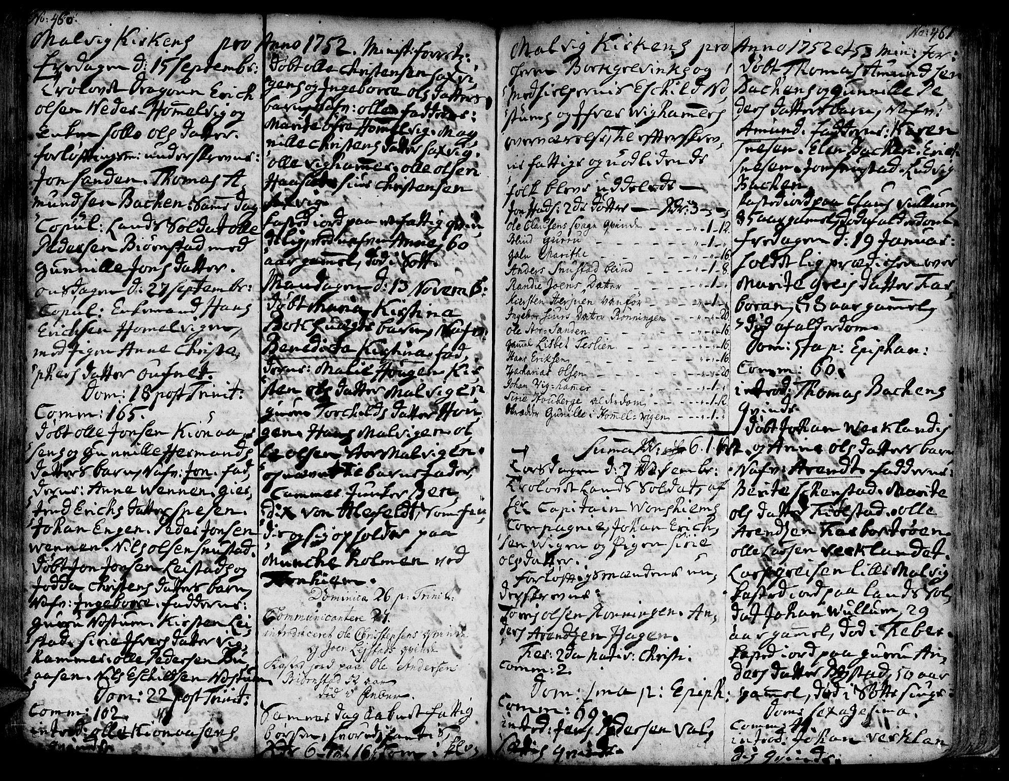 SAT, Ministerialprotokoller, klokkerbøker og fødselsregistre - Sør-Trøndelag, 606/L0277: Ministerialbok nr. 606A01 /3, 1727-1780, s. 460-461