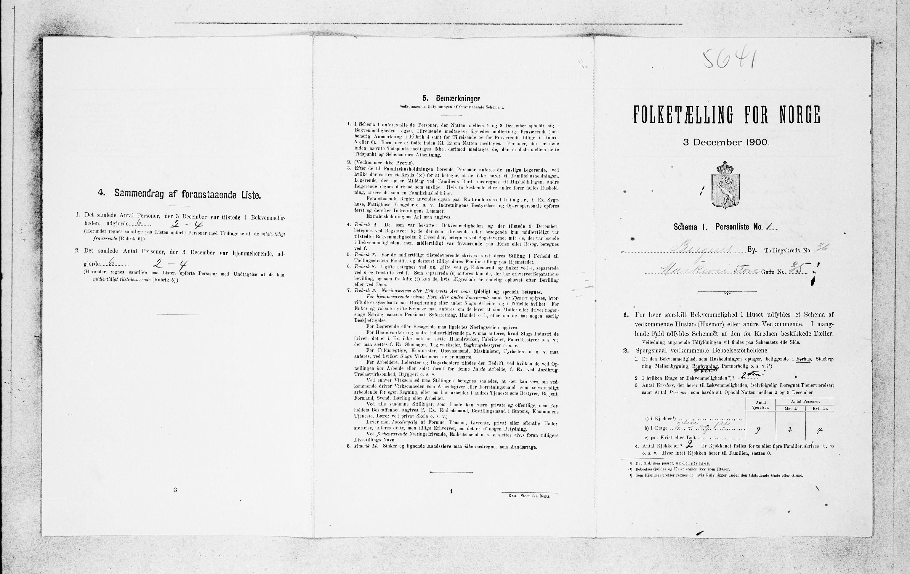 SAB, Folketelling 1900 for 1301 Bergen kjøpstad, 1900, s. 7024