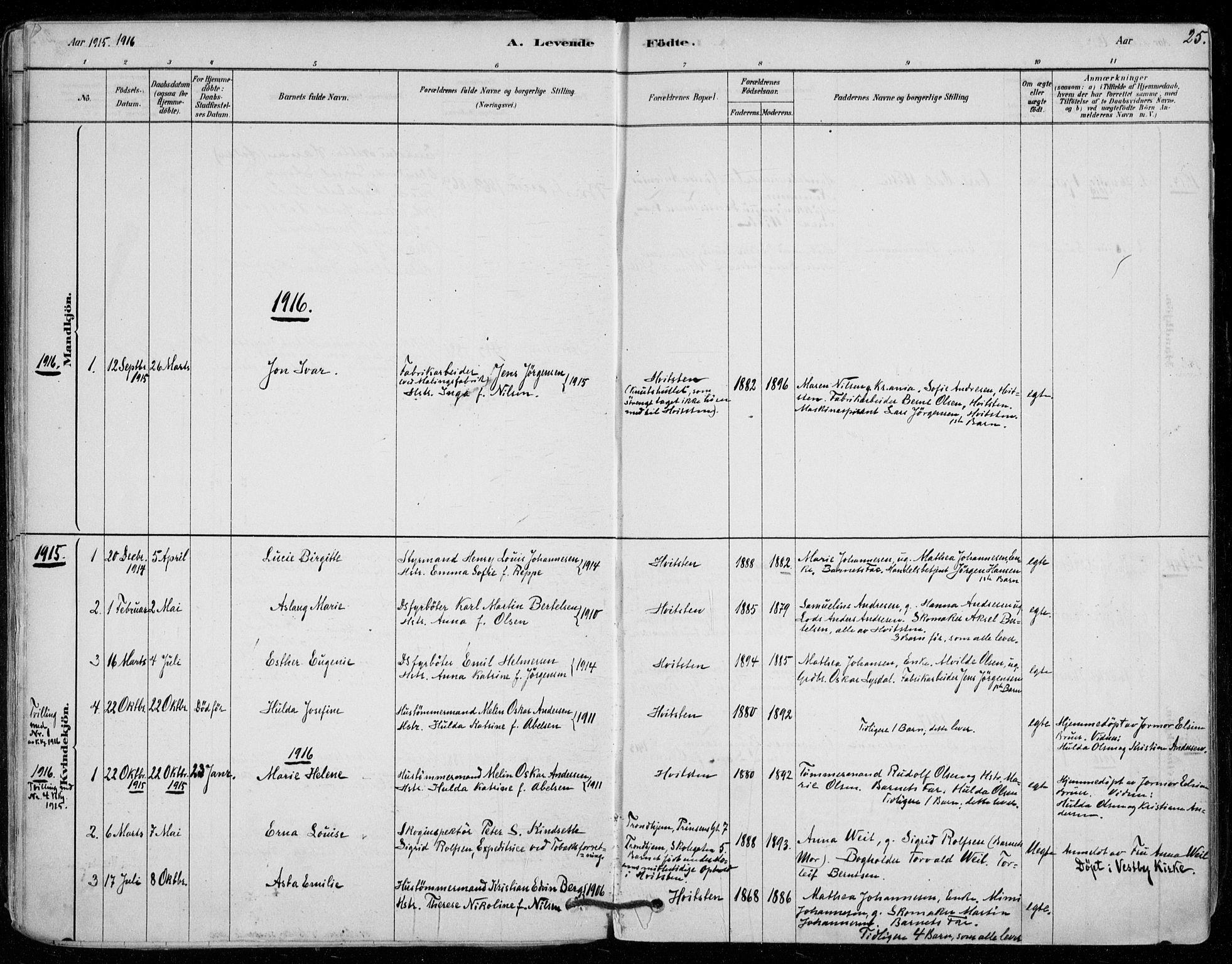 SAO, Vestby prestekontor Kirkebøker, F/Fd/L0001: Ministerialbok nr. IV 1, 1878-1945, s. 25