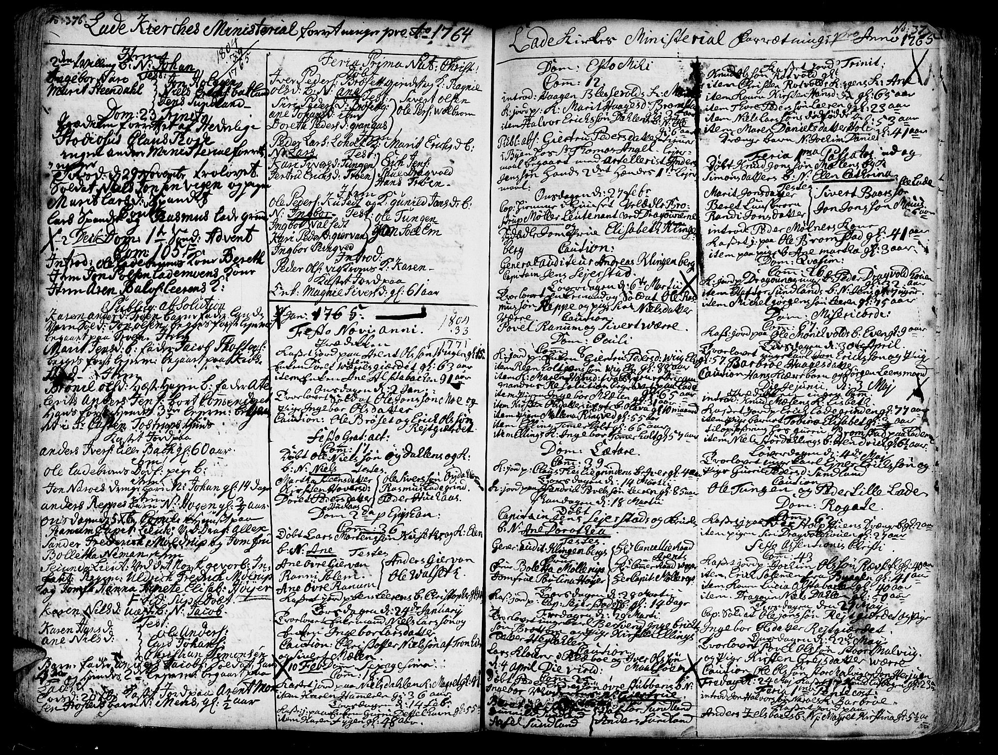 SAT, Ministerialprotokoller, klokkerbøker og fødselsregistre - Sør-Trøndelag, 606/L0275: Ministerialbok nr. 606A01 /1, 1727-1780, s. 376-377