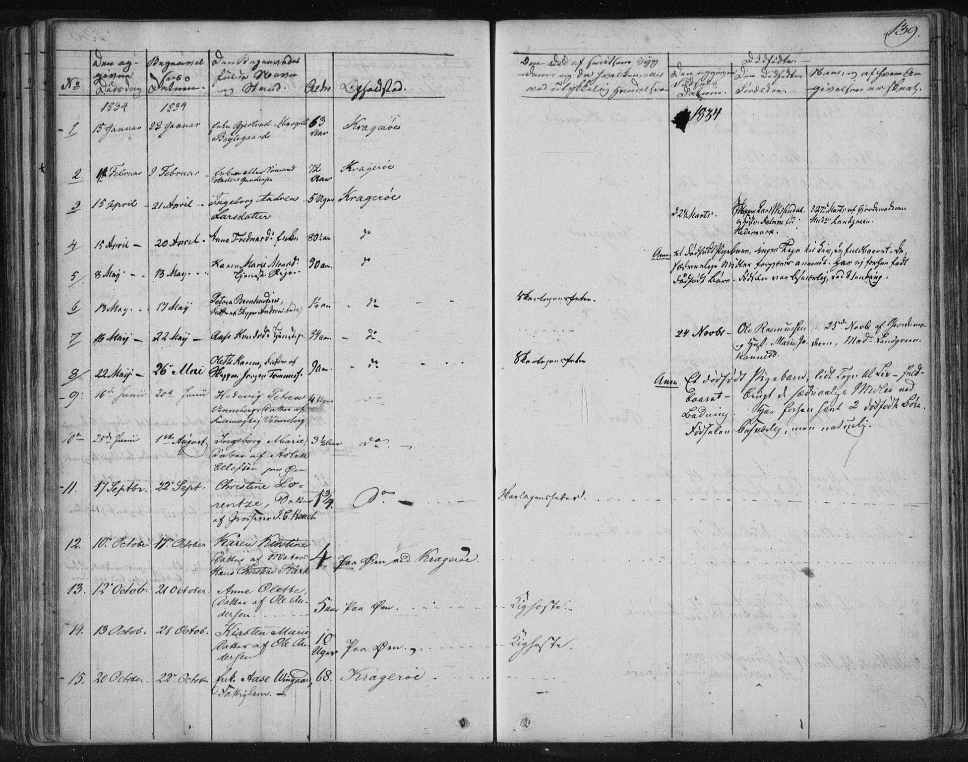 SAKO, Kragerø kirkebøker, F/Fa/L0005: Ministerialbok nr. 5, 1832-1847, s. 139