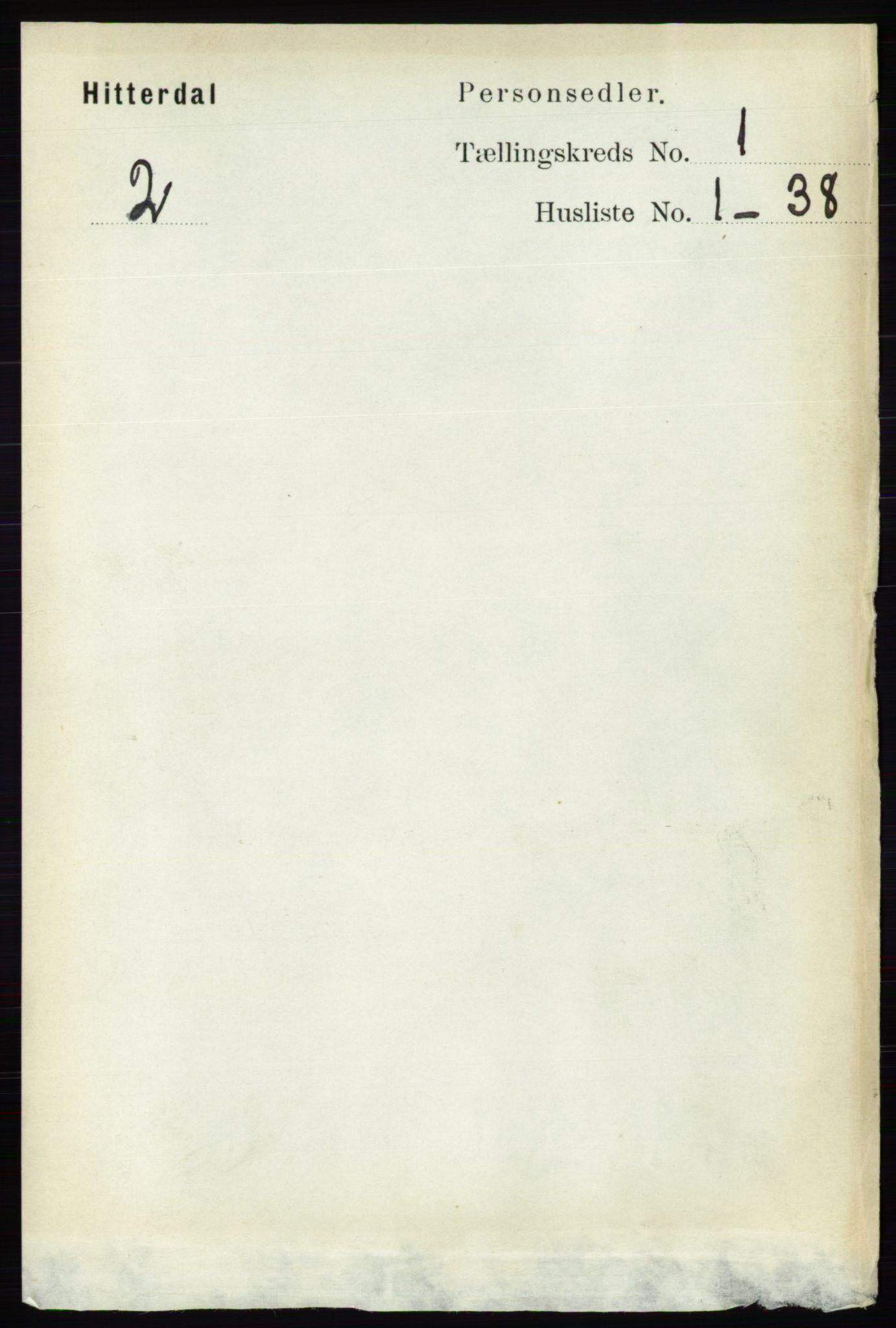 RA, Folketelling 1891 for 0823 Heddal herred, 1891, s. 104