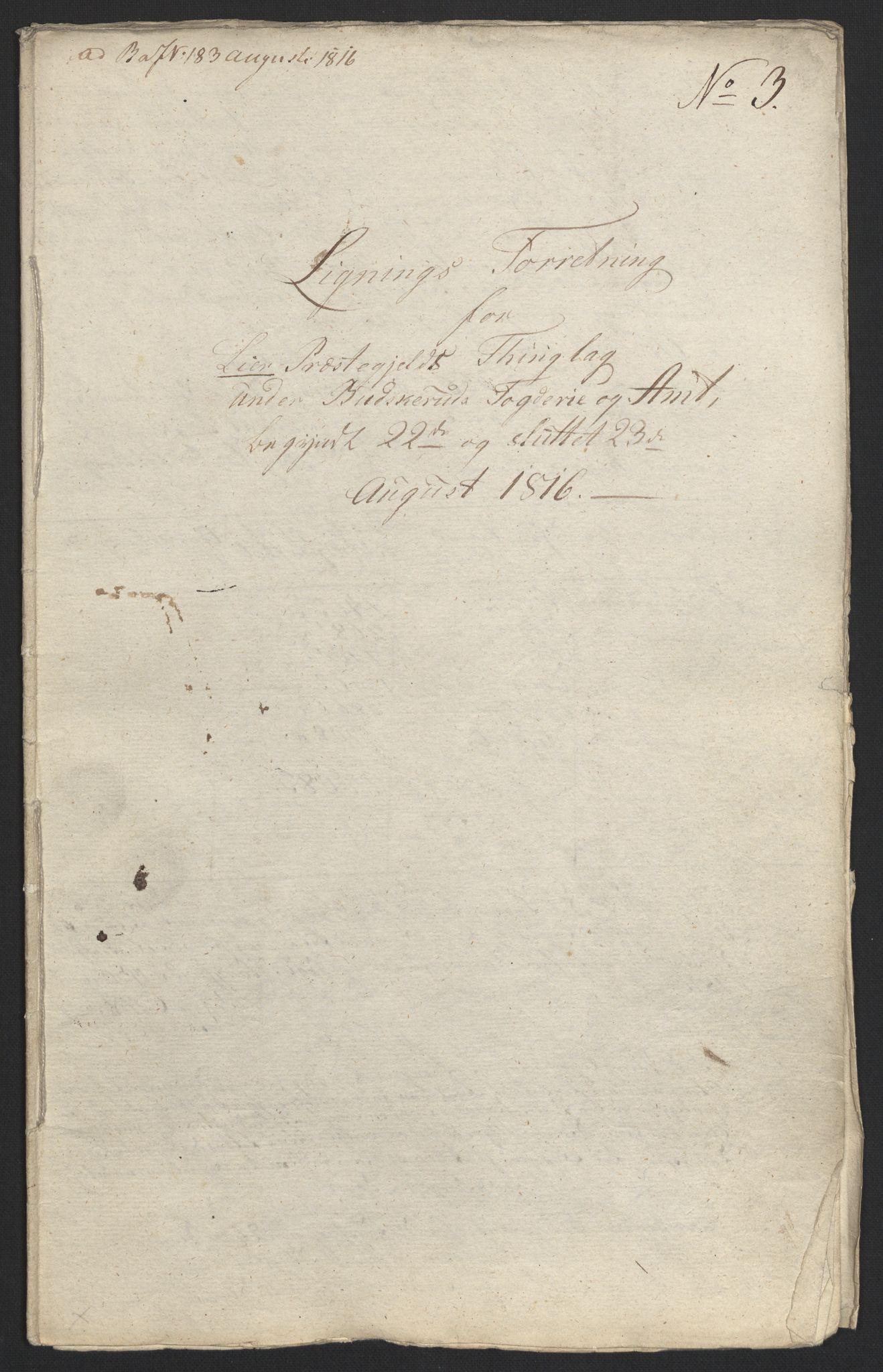 NOBA, Norges Bank/Sølvskatten 1816*, 1816-1822, s. 19