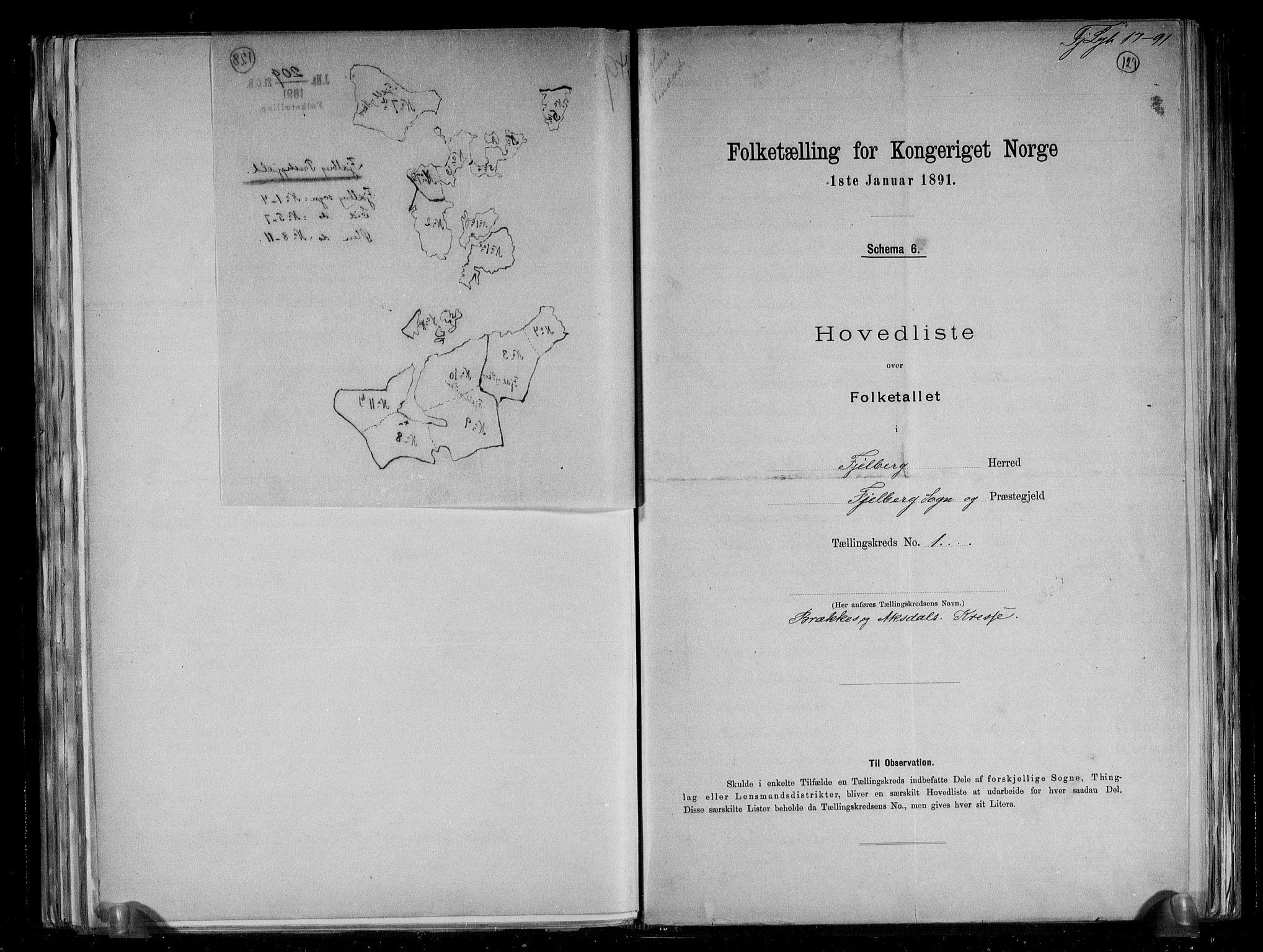 RA, Folketelling 1891 for 1213 Fjelberg herred, 1891, s. 5