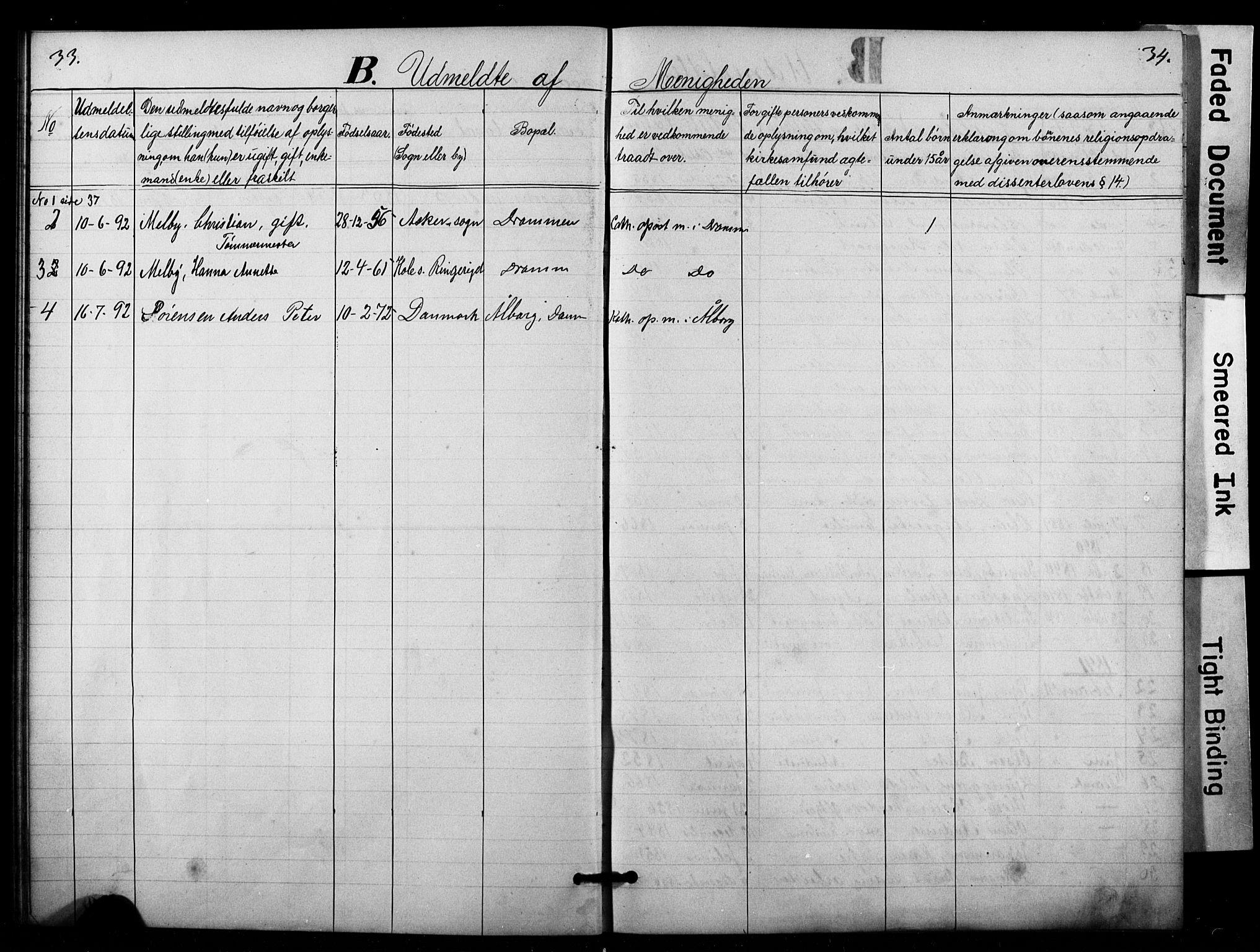 SAO, Den katolsk apostoliske menighet i Oslo , F/Fa/L0001: Dissenterprotokoll nr. 1, 1877-1891, s. 33-34