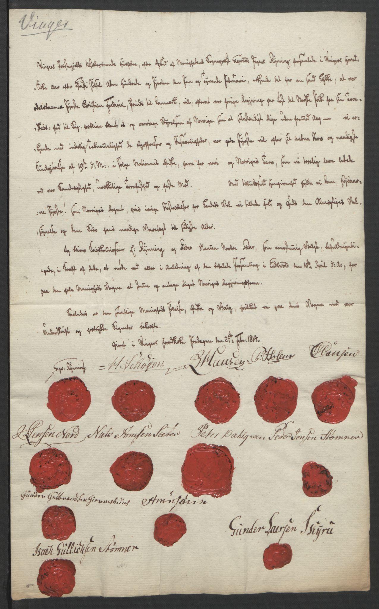 RA, Statsrådssekretariatet, D/Db/L0007: Fullmakter for Eidsvollsrepresentantene i 1814. , 1814, s. 247