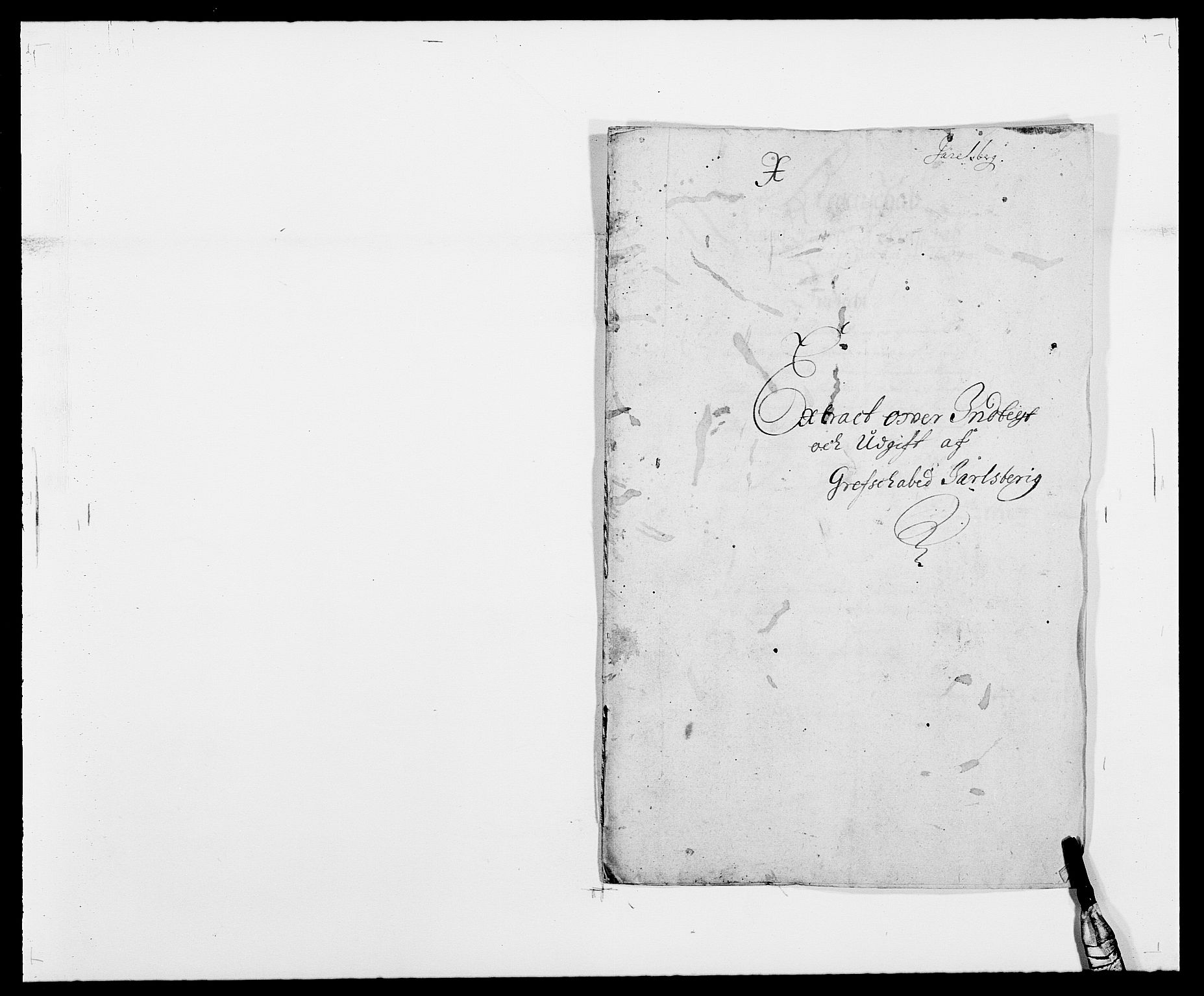 RA, Rentekammeret inntil 1814, Reviderte regnskaper, Fogderegnskap, R32/L1858: Fogderegnskap Jarlsberg grevskap, 1686-1690, s. 1