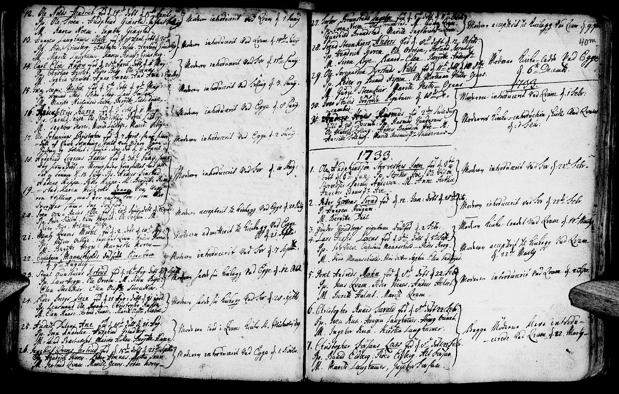SAT, Ministerialprotokoller, klokkerbøker og fødselsregistre - Nord-Trøndelag, 746/L0439: Ministerialbok nr. 746A01, 1688-1759, s. 40m