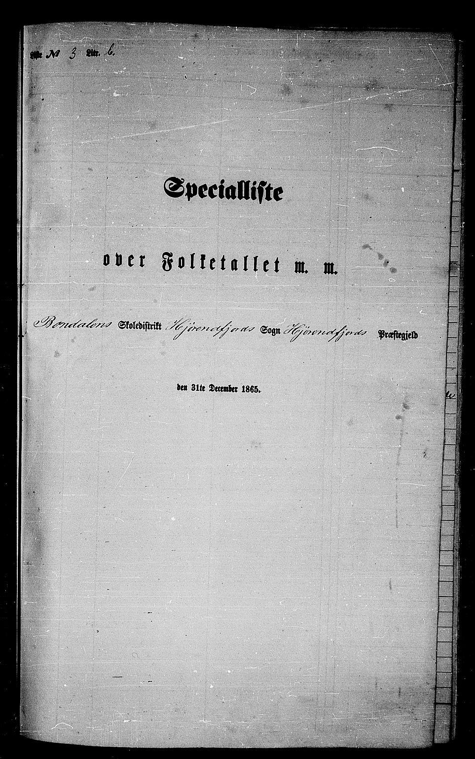 RA, Folketelling 1865 for 1522P Hjørundfjord prestegjeld, 1865, s. 52