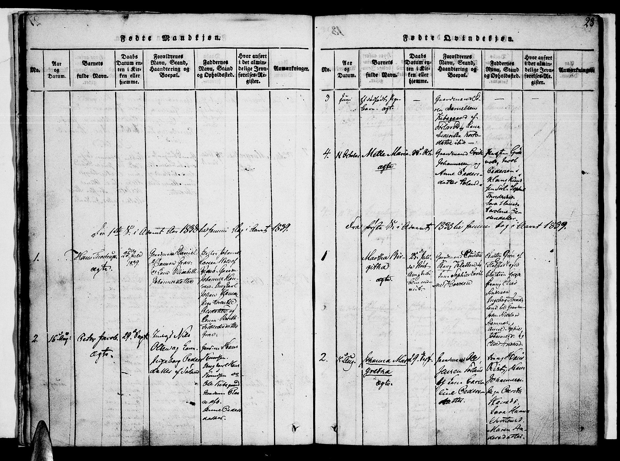 SAT, Ministerialprotokoller, klokkerbøker og fødselsregistre - Nordland, 807/L0120: Ministerialbok nr. 807A03, 1821-1848, s. 28