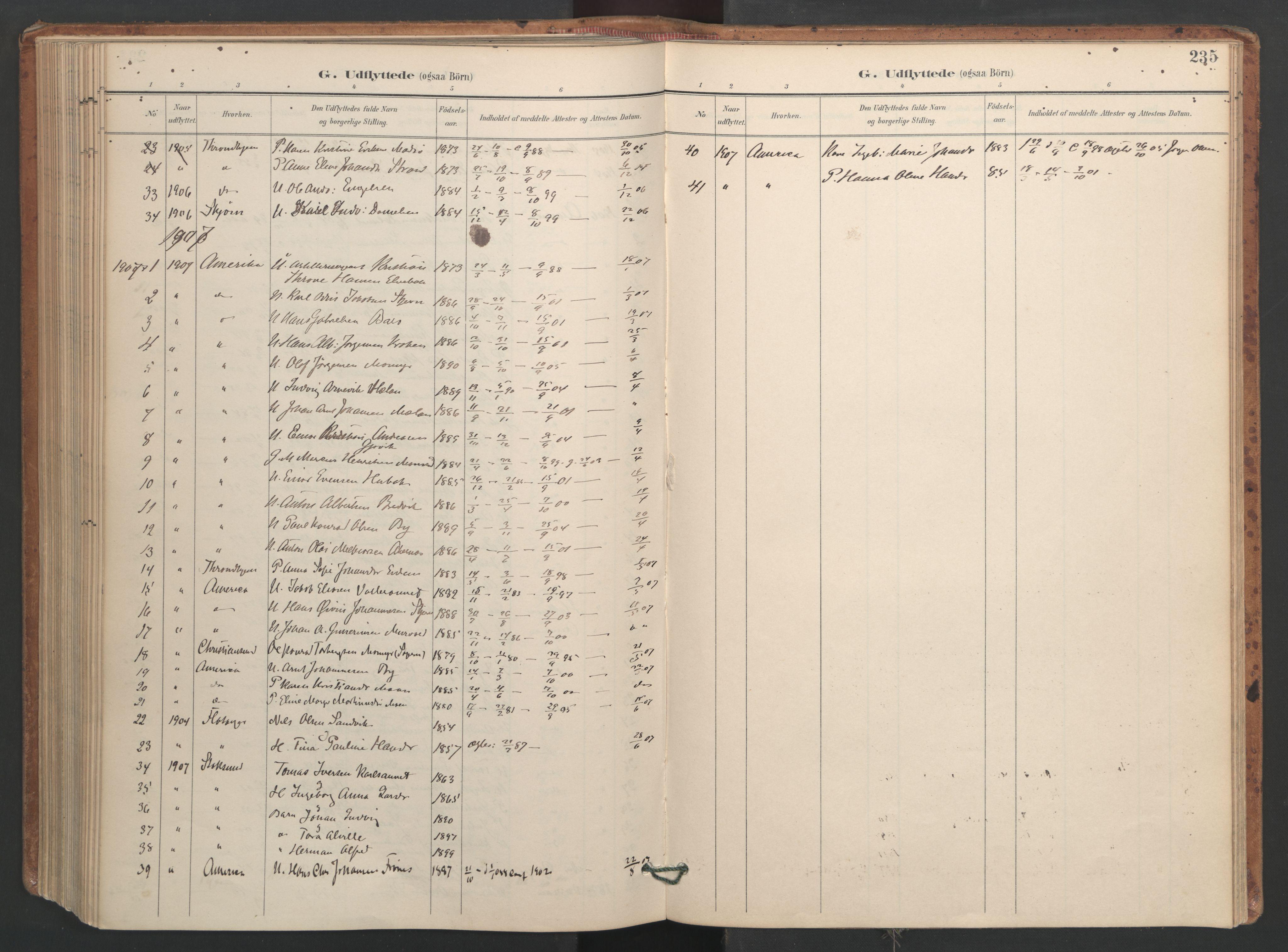 SAT, Ministerialprotokoller, klokkerbøker og fødselsregistre - Sør-Trøndelag, 655/L0681: Ministerialbok nr. 655A10, 1895-1907, s. 235