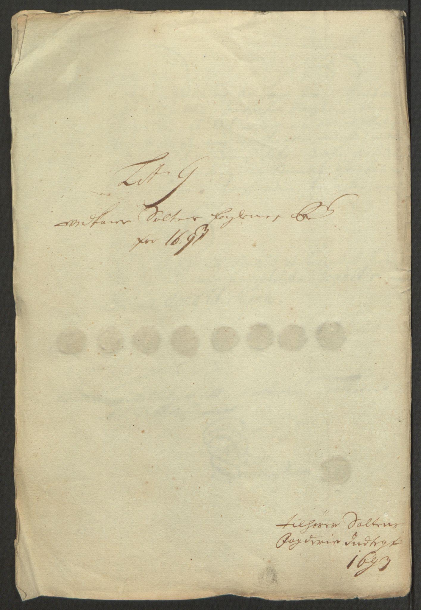 RA, Rentekammeret inntil 1814, Reviderte regnskaper, Fogderegnskap, R66/L4577: Fogderegnskap Salten, 1691-1693, s. 334