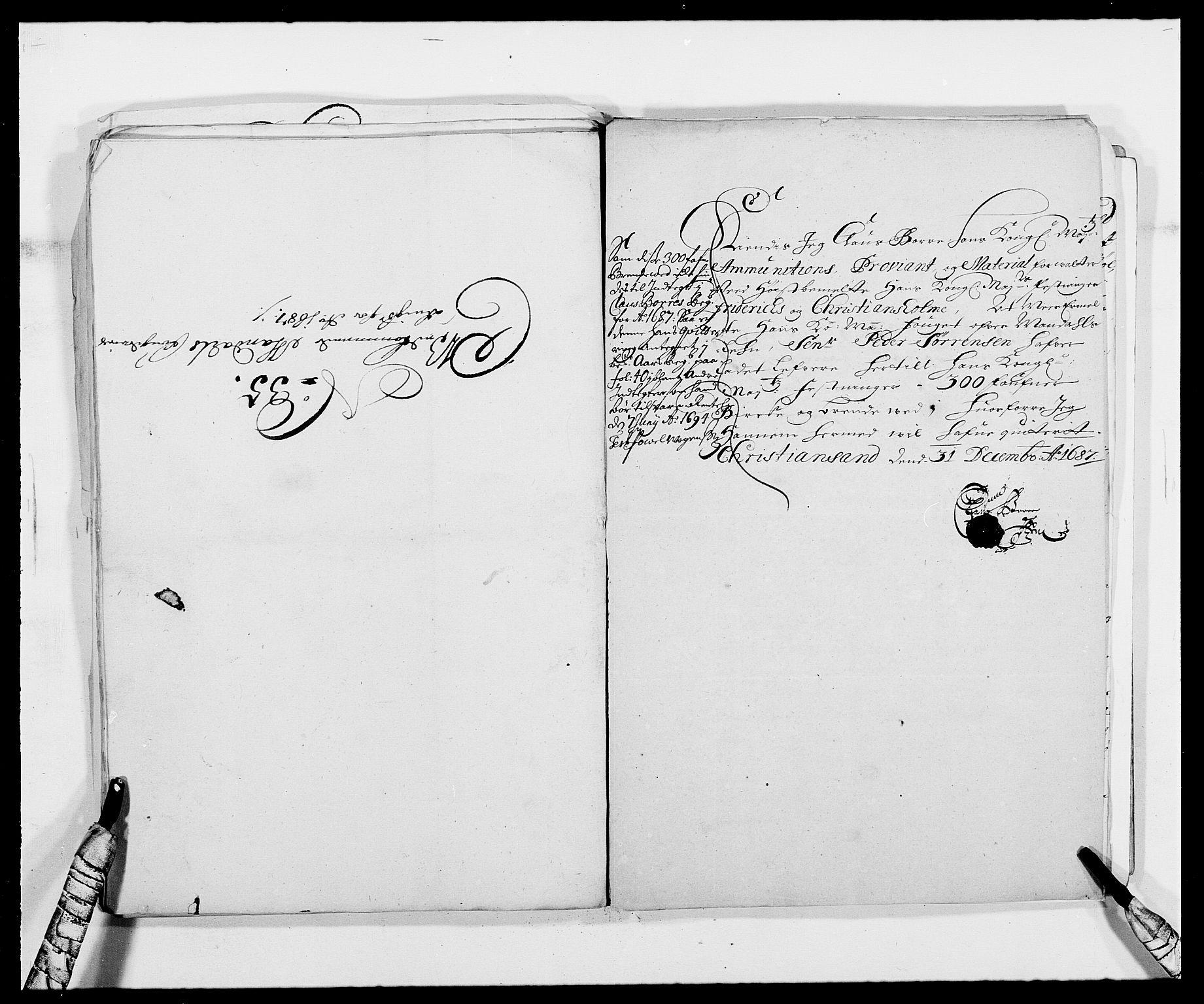 RA, Rentekammeret inntil 1814, Reviderte regnskaper, Fogderegnskap, R42/L2542: Mandal fogderi, 1685-1687, s. 282