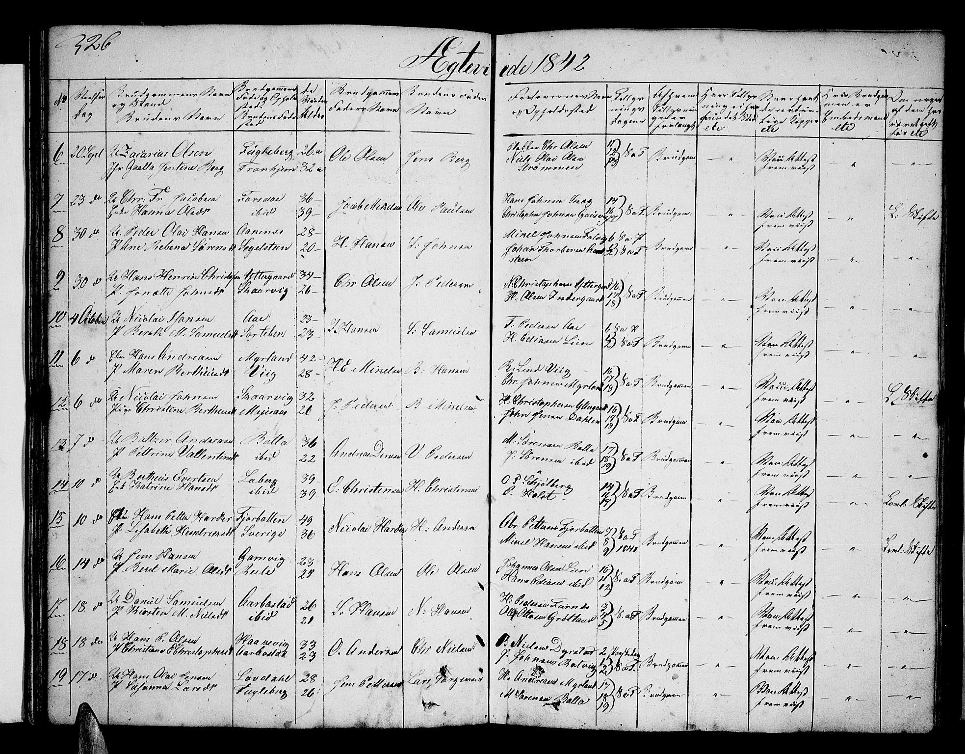 SATØ, Ibestad sokneprestembete, Klokkerbok nr. 3, 1833-1852, s. 326