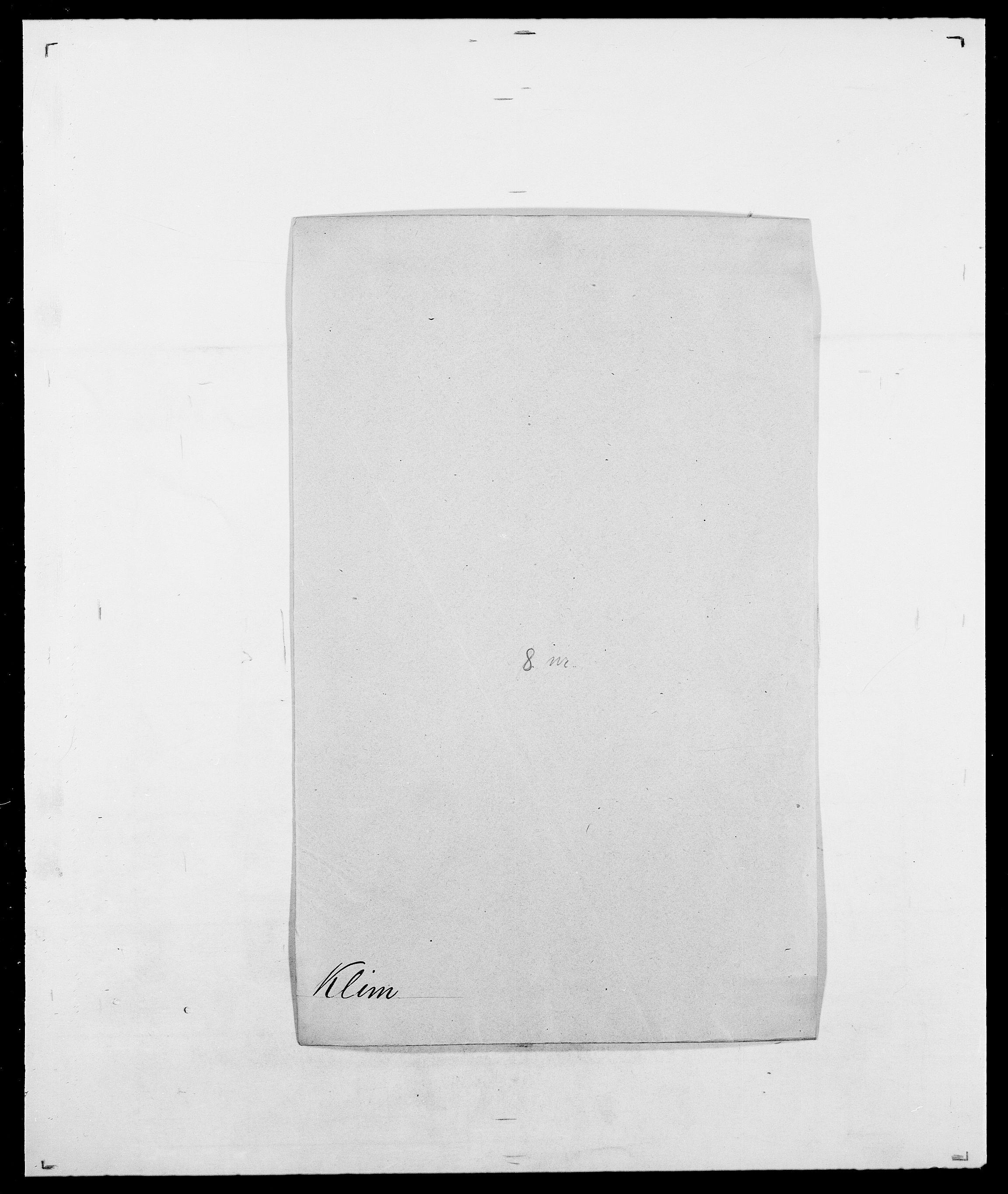SAO, Delgobe, Charles Antoine - samling, D/Da/L0021: Klagenberg - Kristoft, s. 61