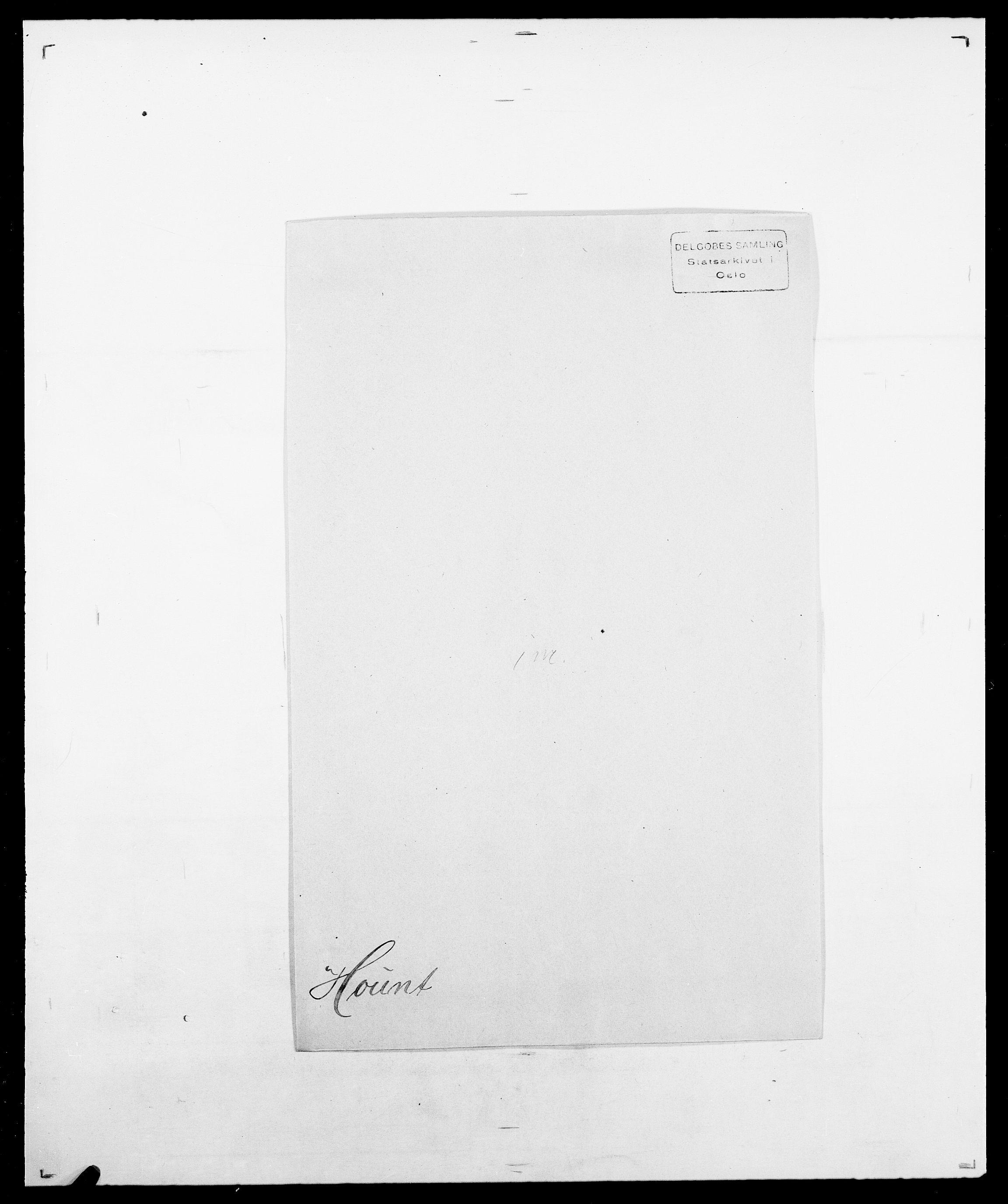 SAO, Delgobe, Charles Antoine - samling, D/Da/L0018: Hoch - Howert, s. 1029