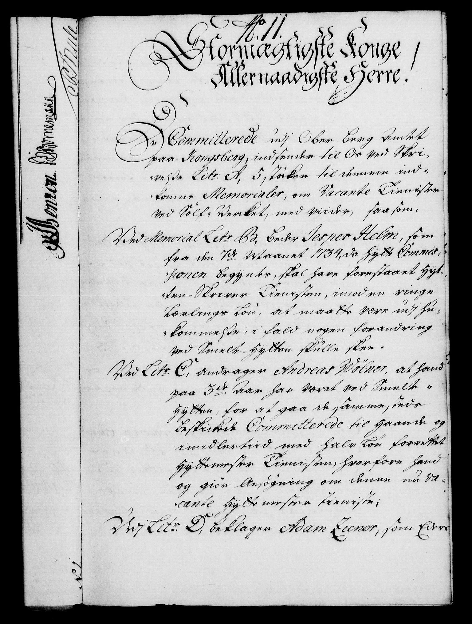 RA, Rentekammeret, Kammerkanselliet, G/Gf/Gfa/L0021: Norsk relasjons- og resolusjonsprotokoll (merket RK 52.21), 1738, s. 83