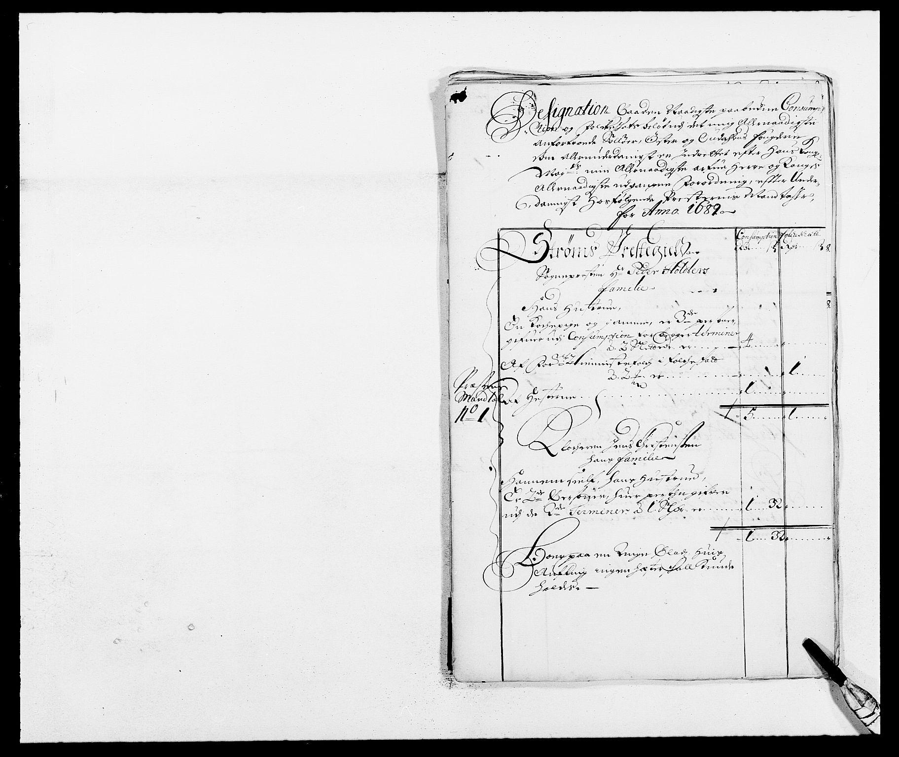 RA, Rentekammeret inntil 1814, Reviderte regnskaper, Fogderegnskap, R13/L0827: Fogderegnskap Solør, Odal og Østerdal, 1689, s. 311