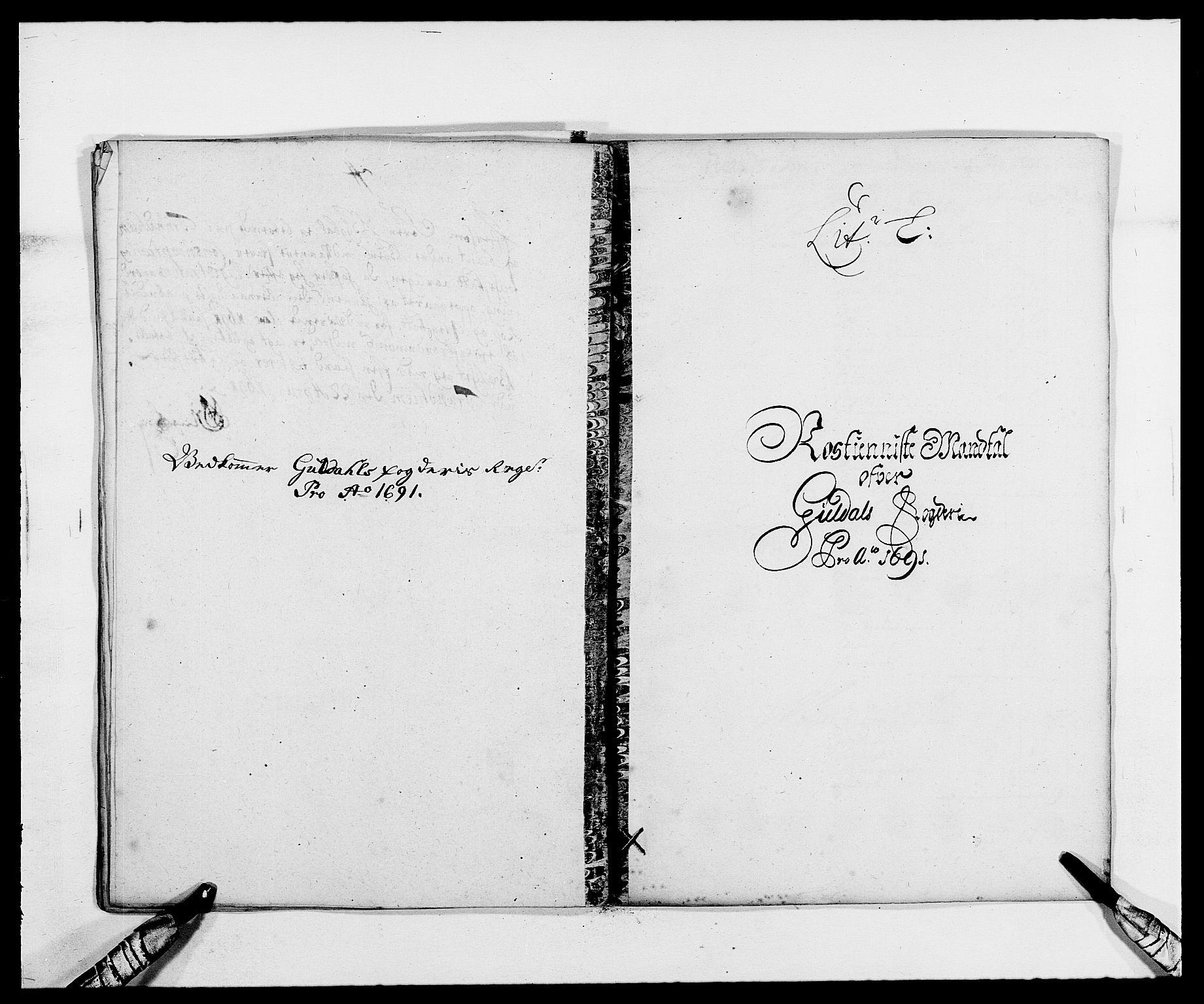 RA, Rentekammeret inntil 1814, Reviderte regnskaper, Fogderegnskap, R59/L3941: Fogderegnskap Gauldal, 1691, s. 115